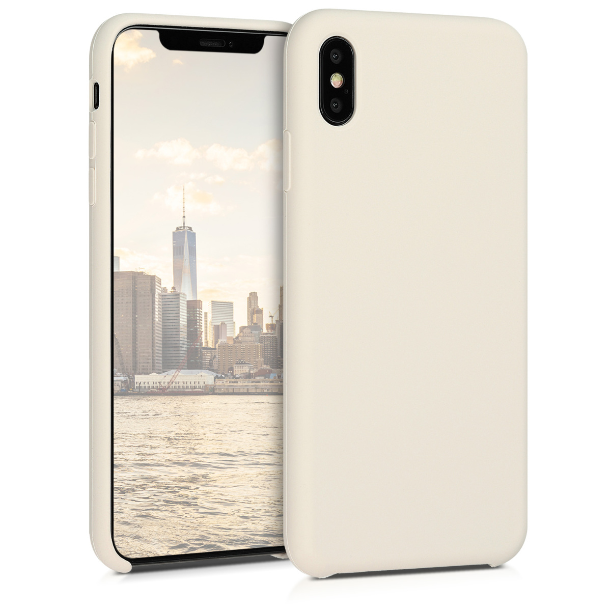 Kvalitní silikonové TPU pouzdro pro Apple iPhone XS Max - Krém
