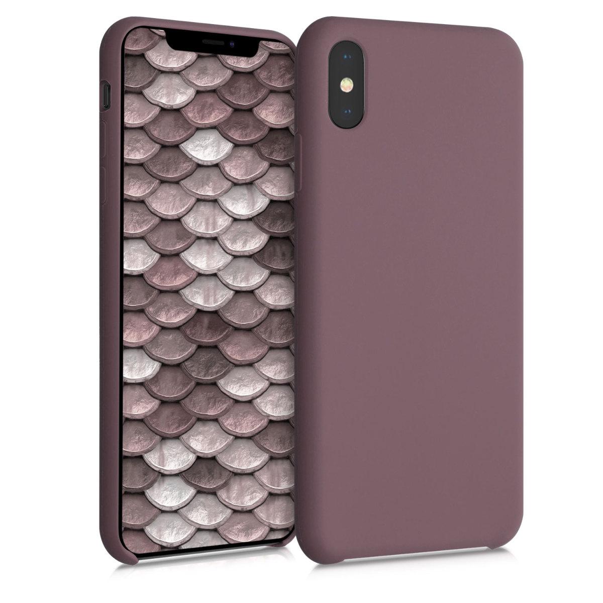 Kvalitní silikonové TPU pouzdro pro Apple iPhone XS Max - Grape Fialová