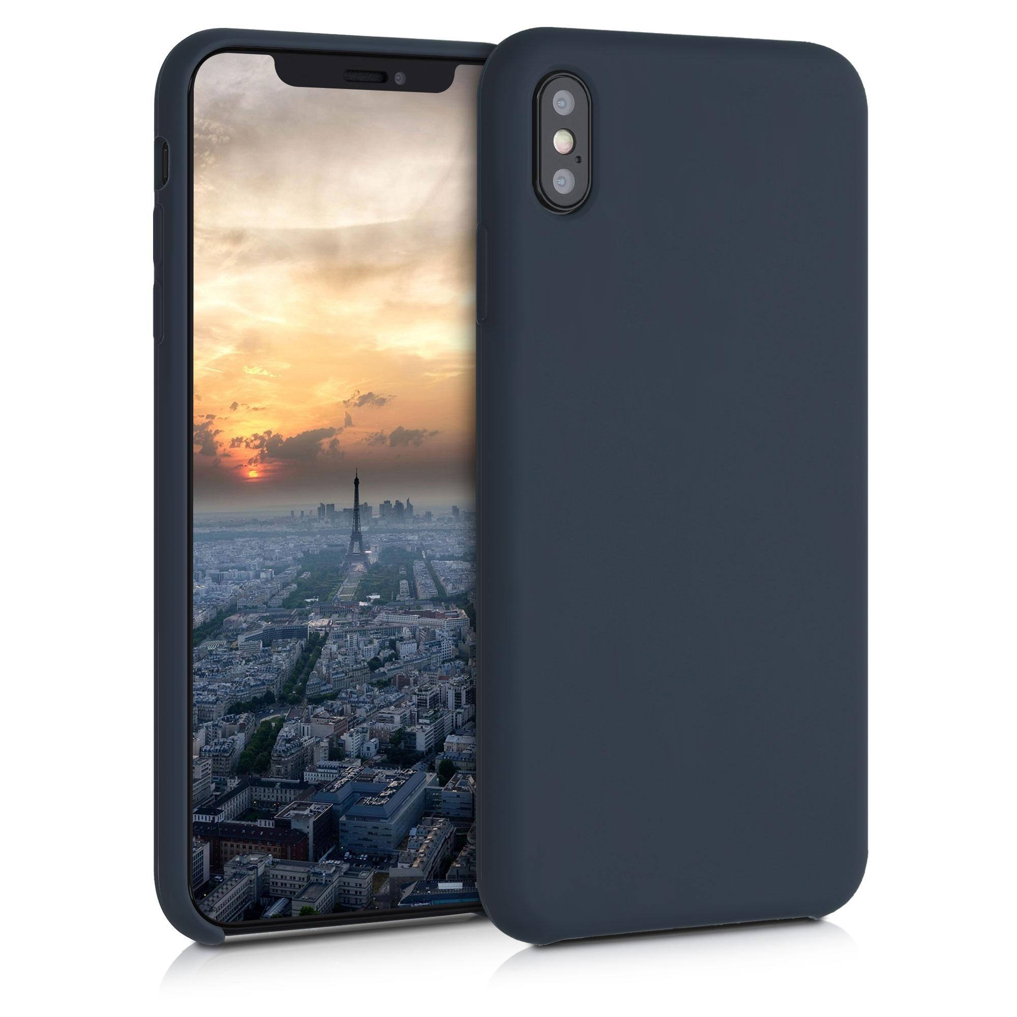 Kvalitní silikonové TPU pouzdro pro Apple iPhone XS Max - Borůvka