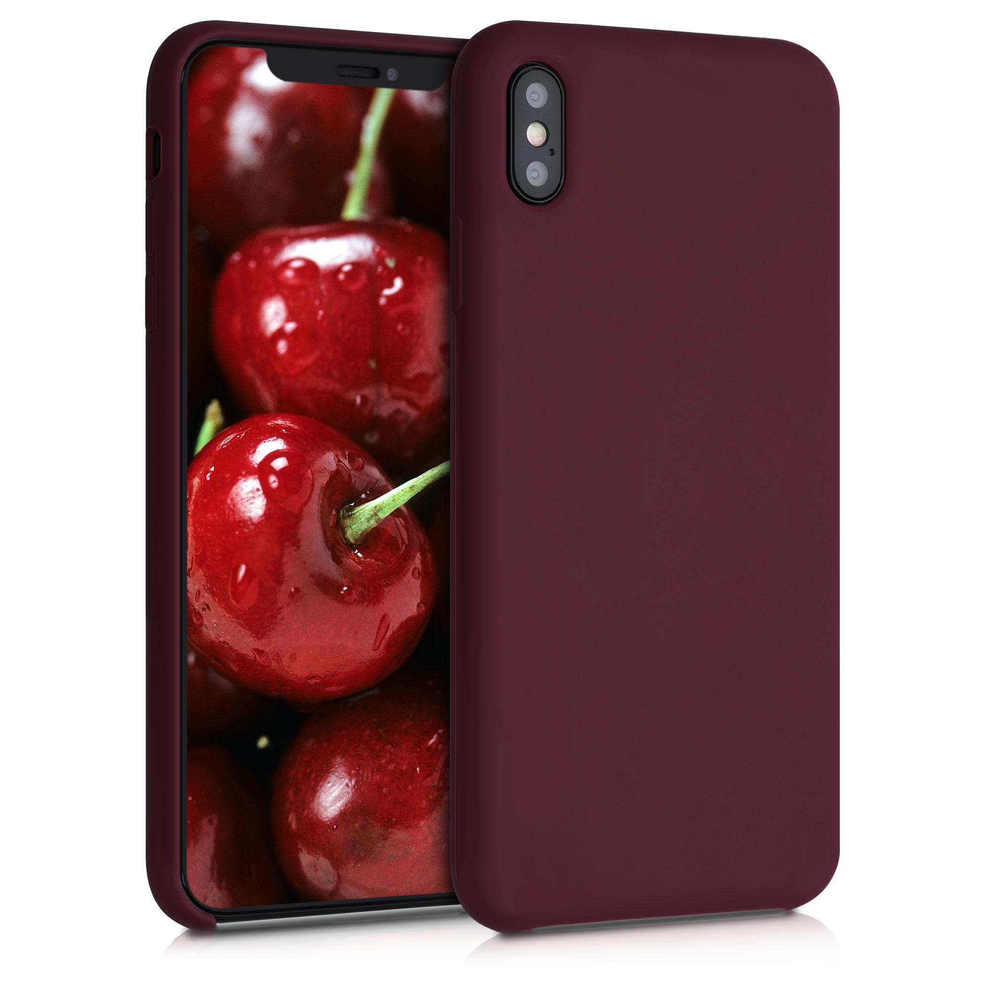 Kvalitní silikonové TPU pouzdro pro Apple iPhone XS Max - Tawny Red
