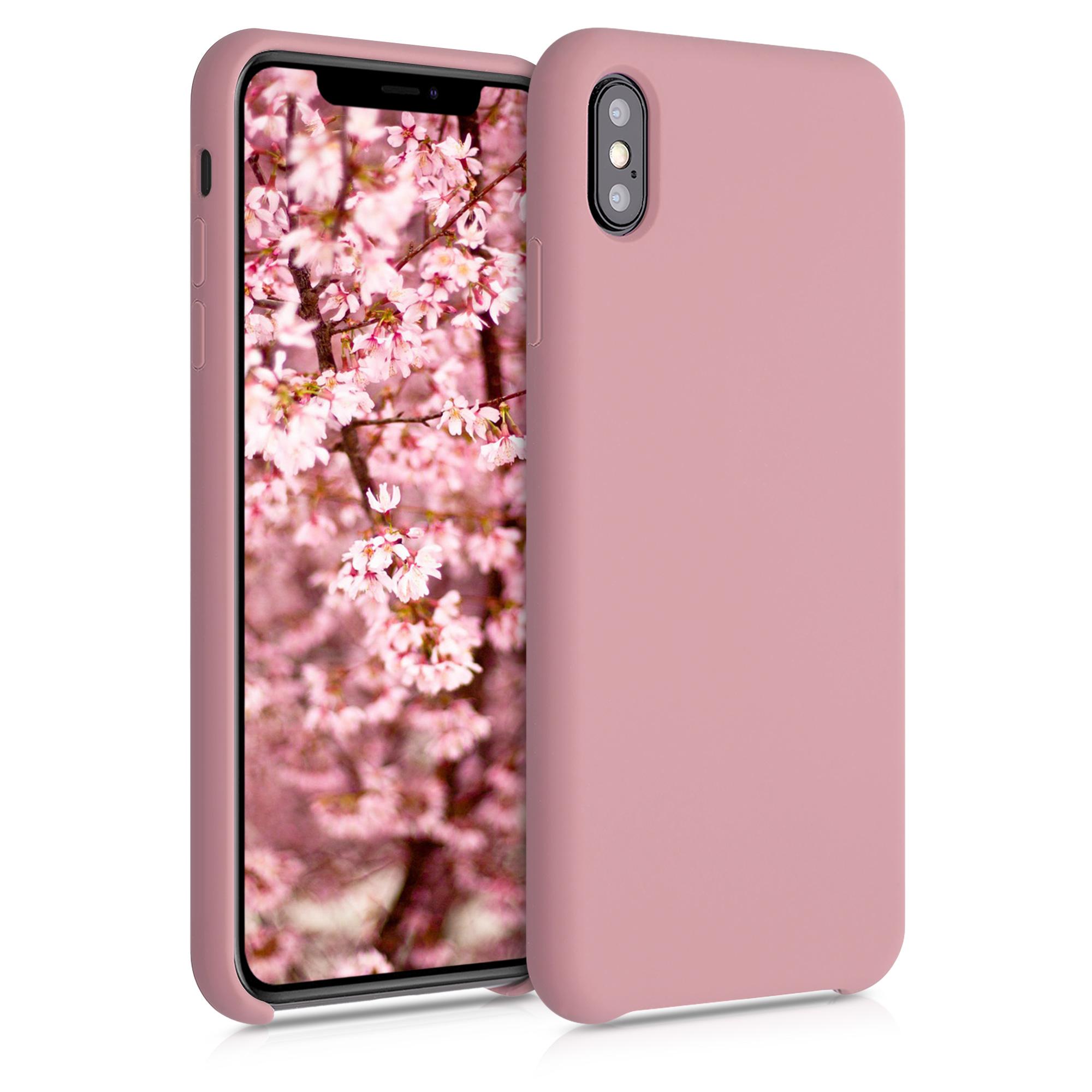 Kvalitní silikonové TPU pouzdro pro Apple iPhone XS Max - Rose Tan