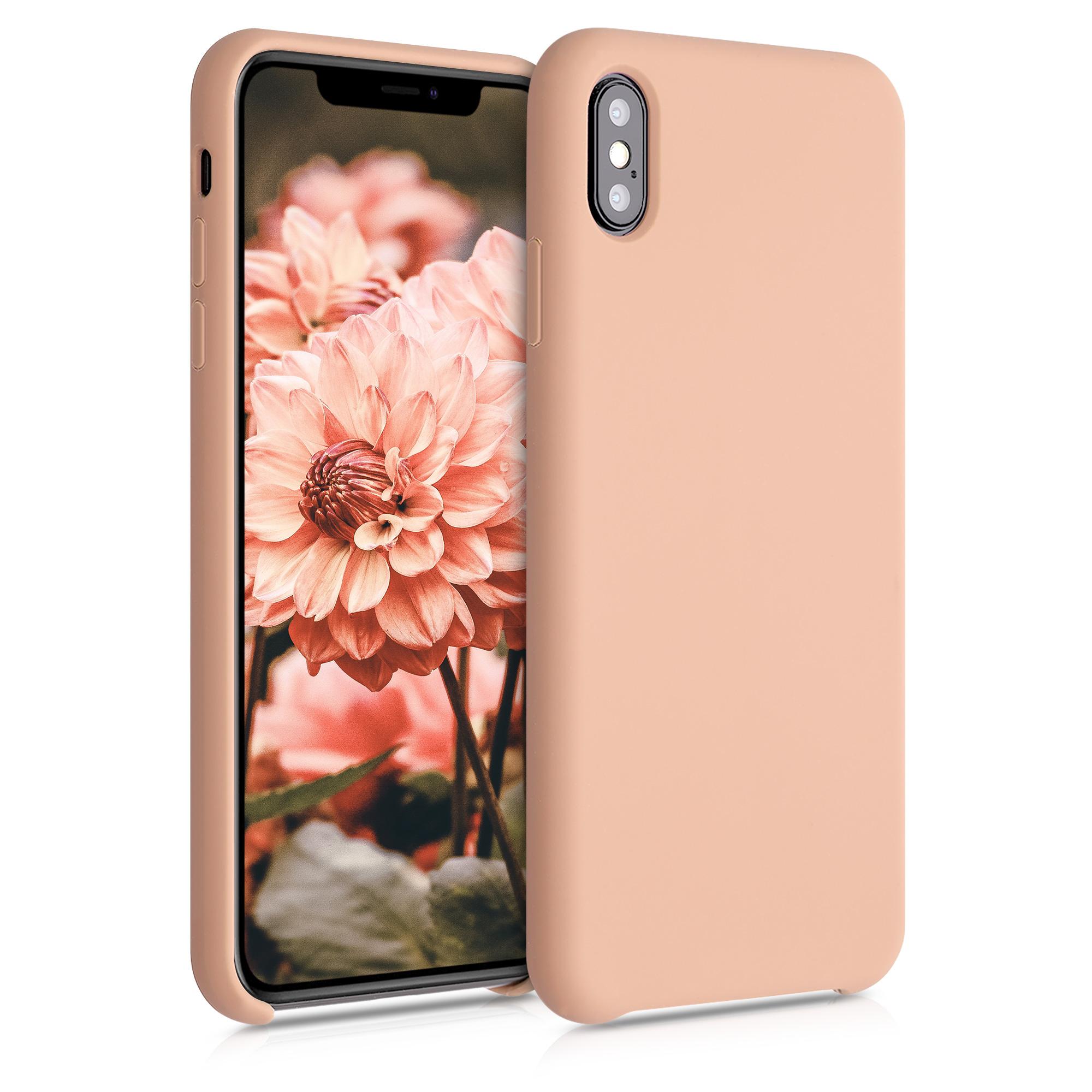 Kvalitní silikonové TPU pouzdro pro Apple iPhone XS Max - Peach Nugát