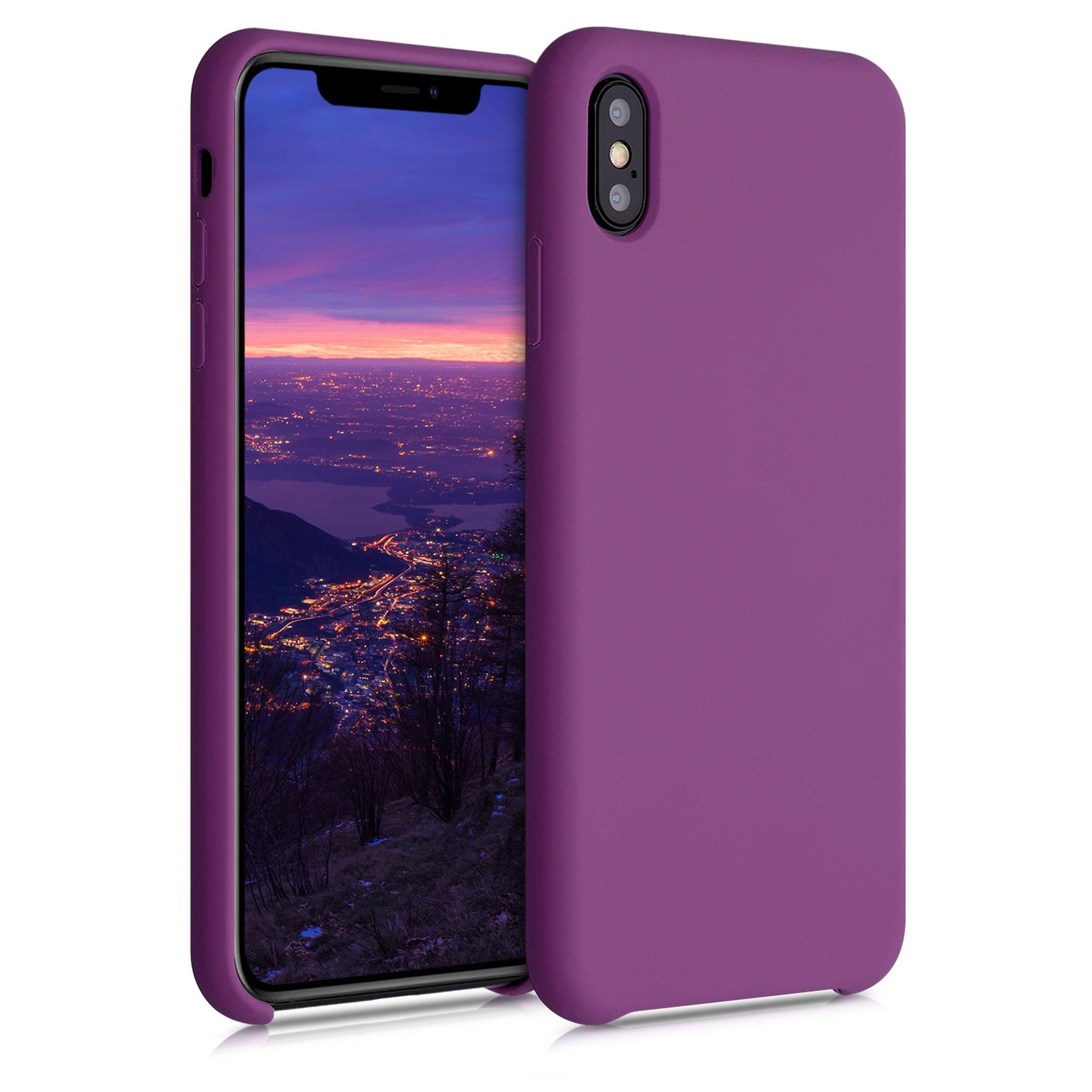 Kvalitní silikonové TPU pouzdro pro Apple iPhone XS Max - fialová