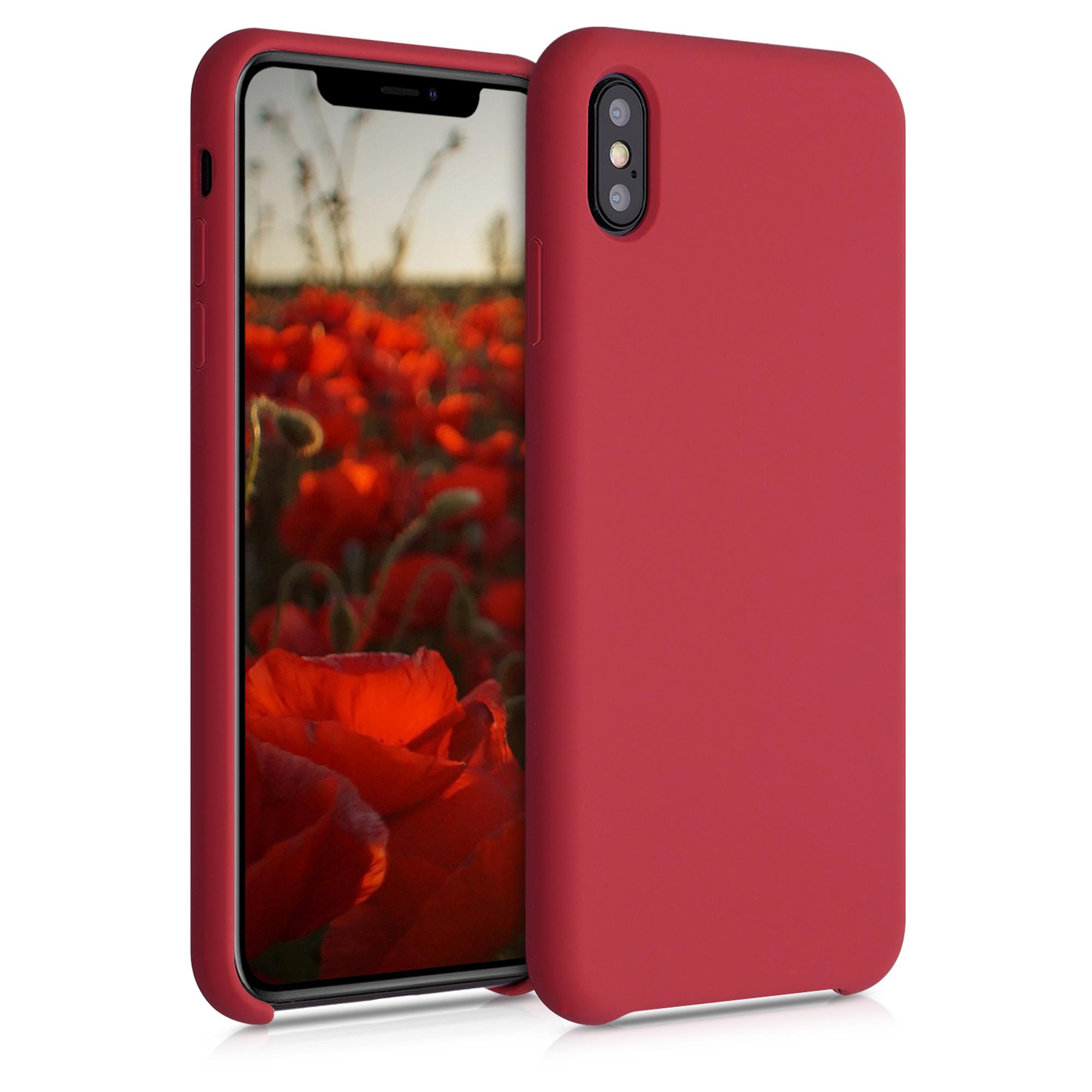Kvalitní silikonové TPU pouzdro pro Apple iPhone XS Max - Rococo Red
