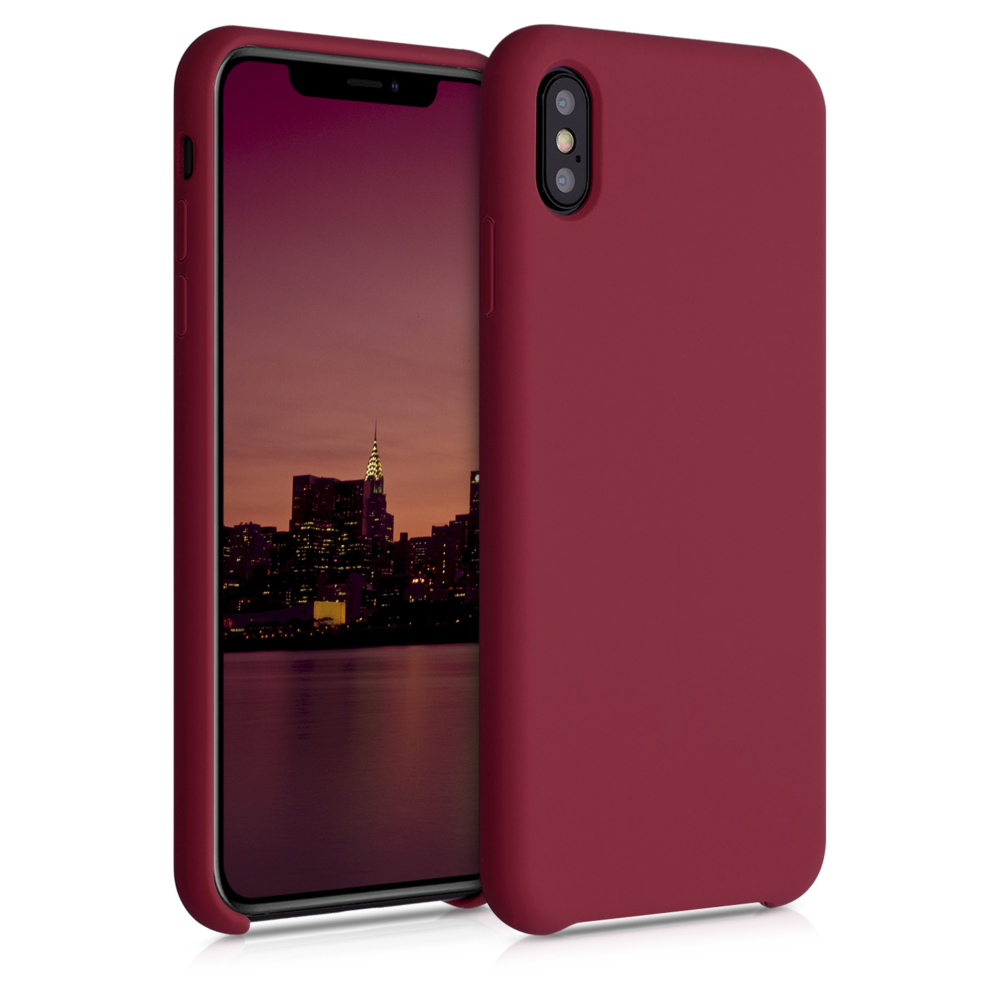 Kvalitní silikonové TPU pouzdro pro Apple iPhone XS Max - rebarbora Red