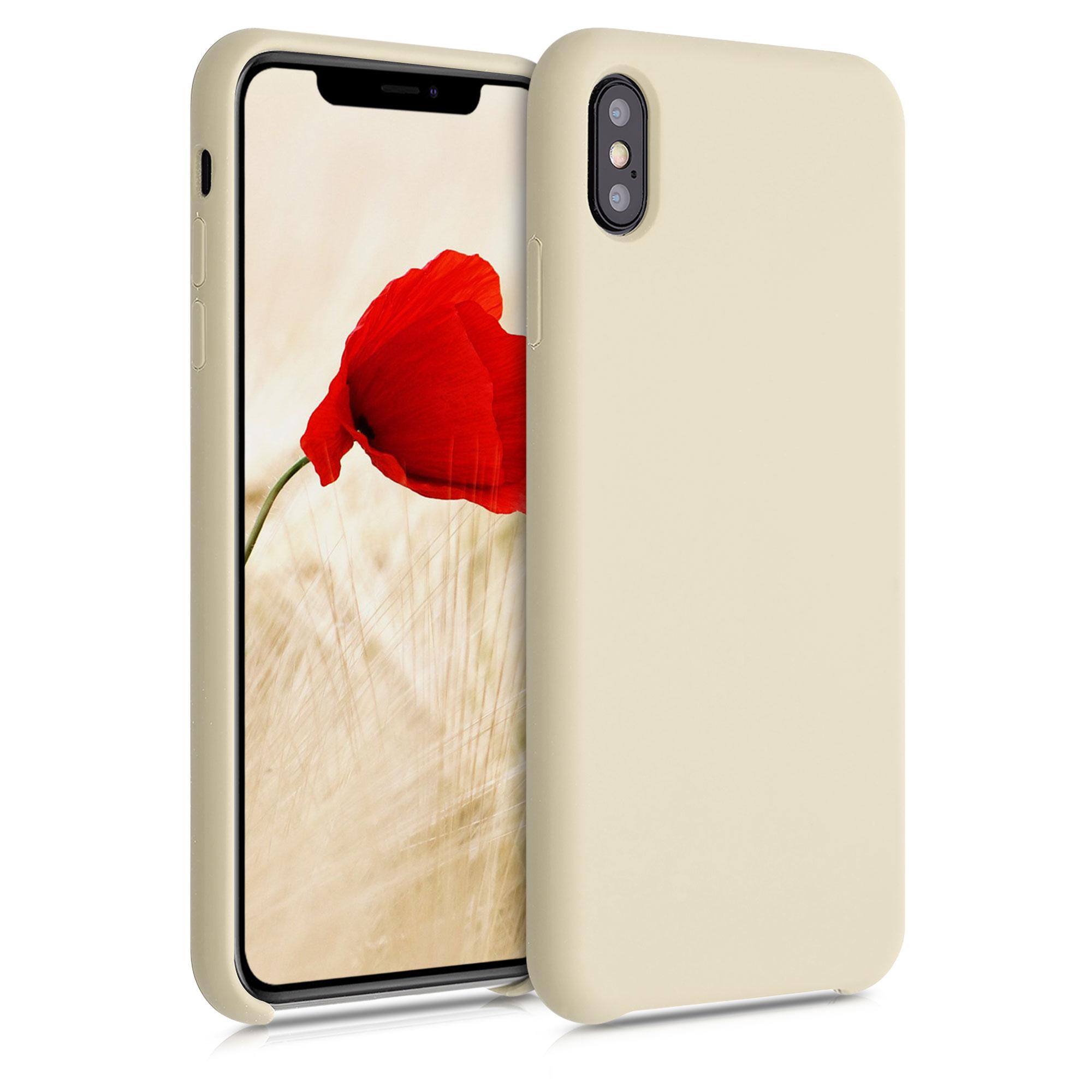 Kvalitní silikonové TPU pouzdro pro Apple iPhone XS Max - krémem