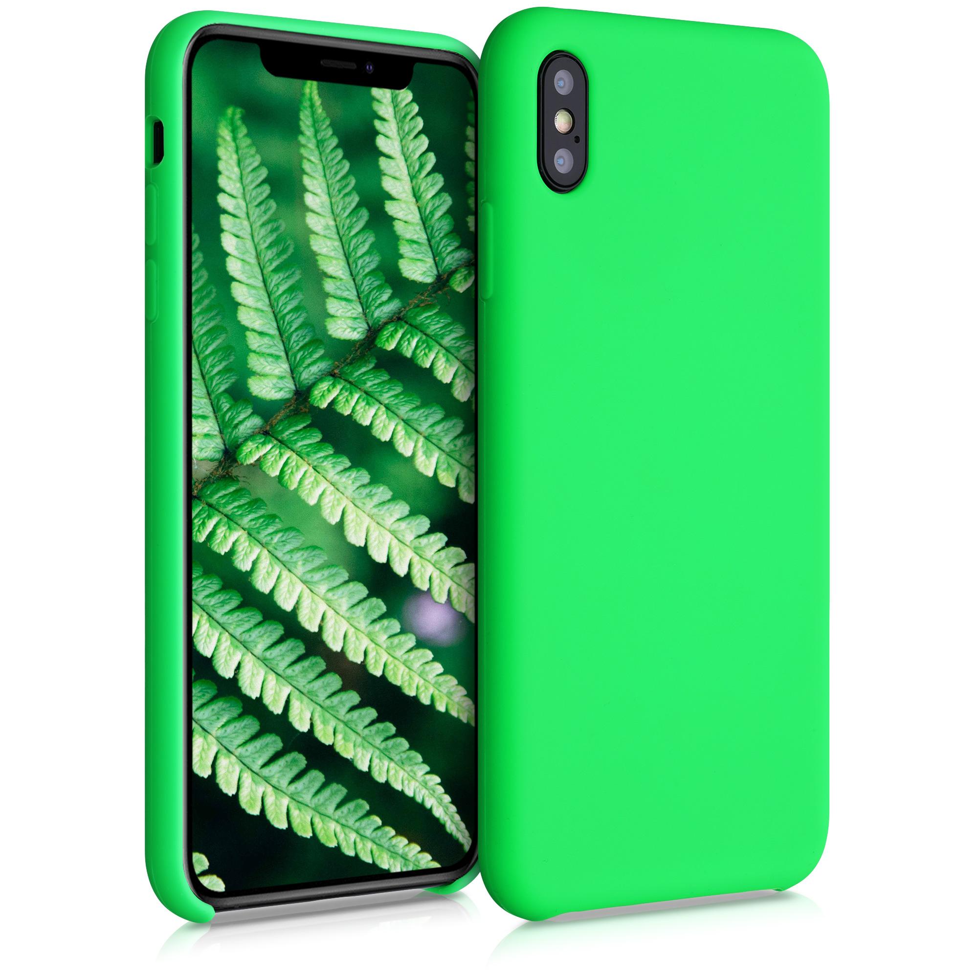 Kvalitní silikonové TPU pouzdro pro Apple iPhone XS Max - Neonově zelená