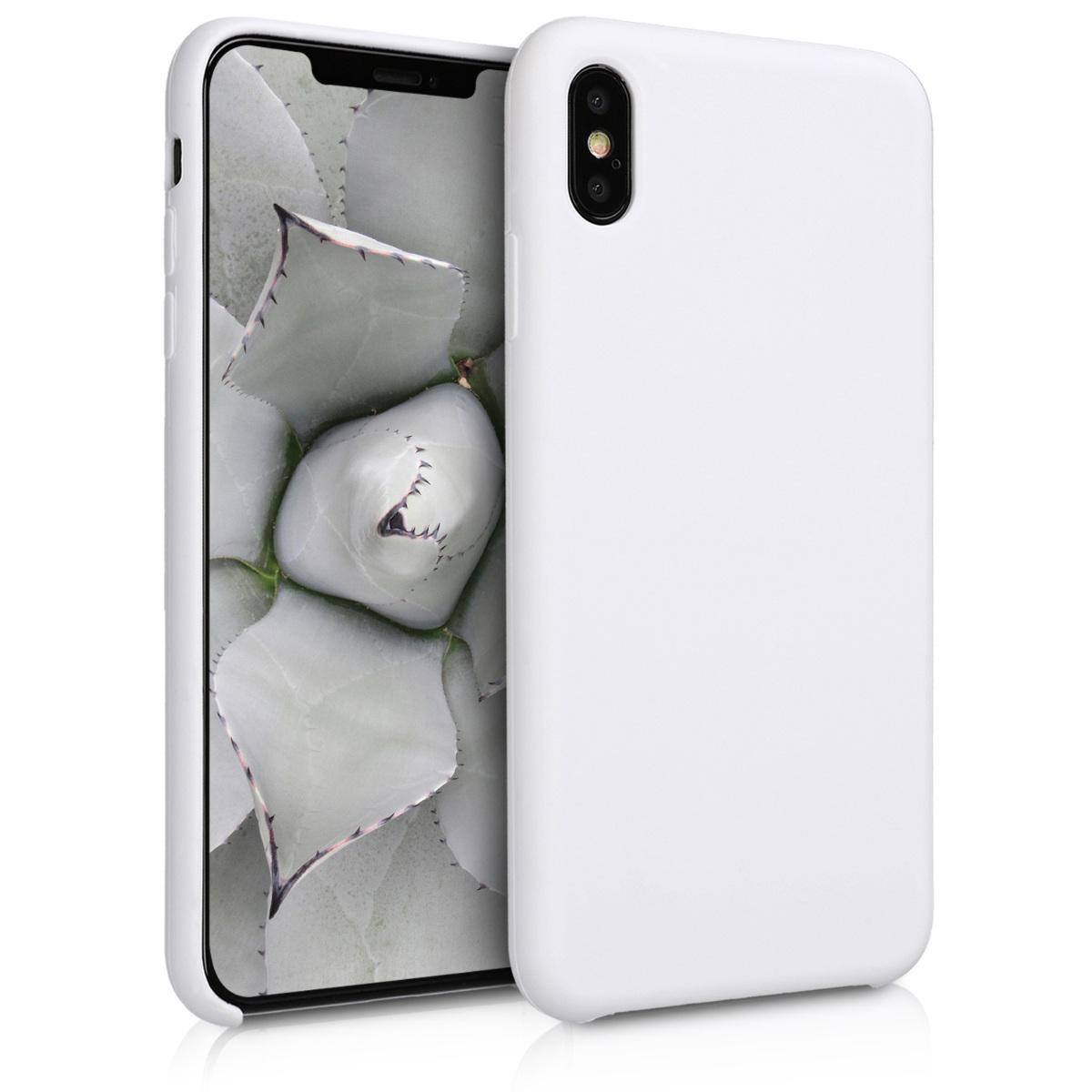 Kvalitní silikonové TPU pouzdro pro Apple iPhone XS Max - Bílý
