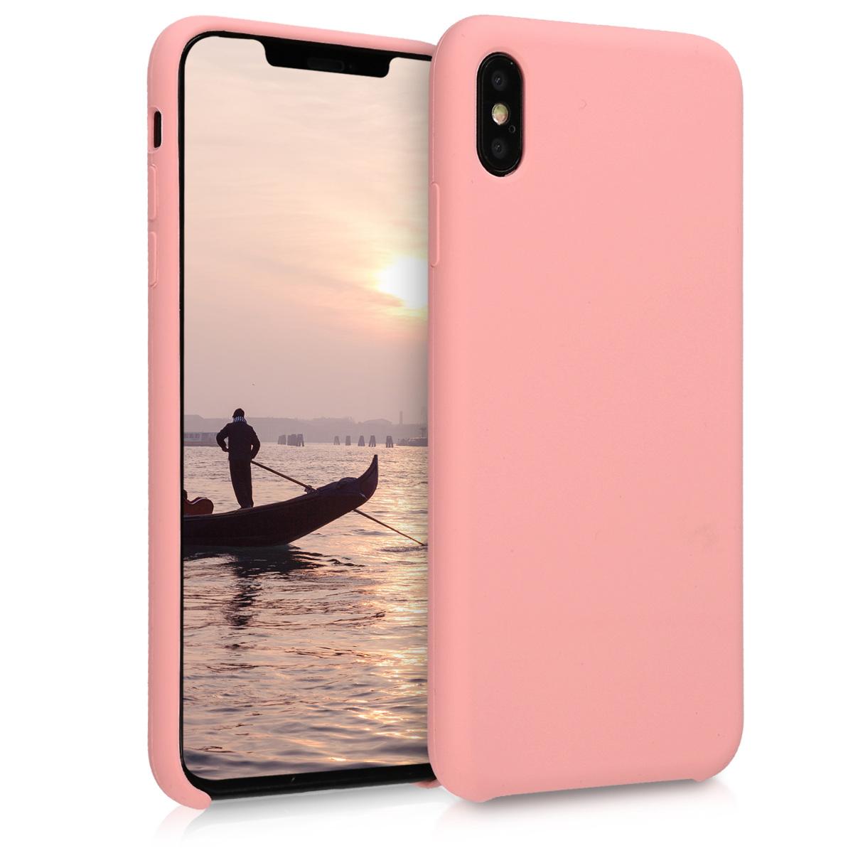 Kvalitní silikonové TPU pouzdro pro Apple iPhone XS Max - Rose Gold