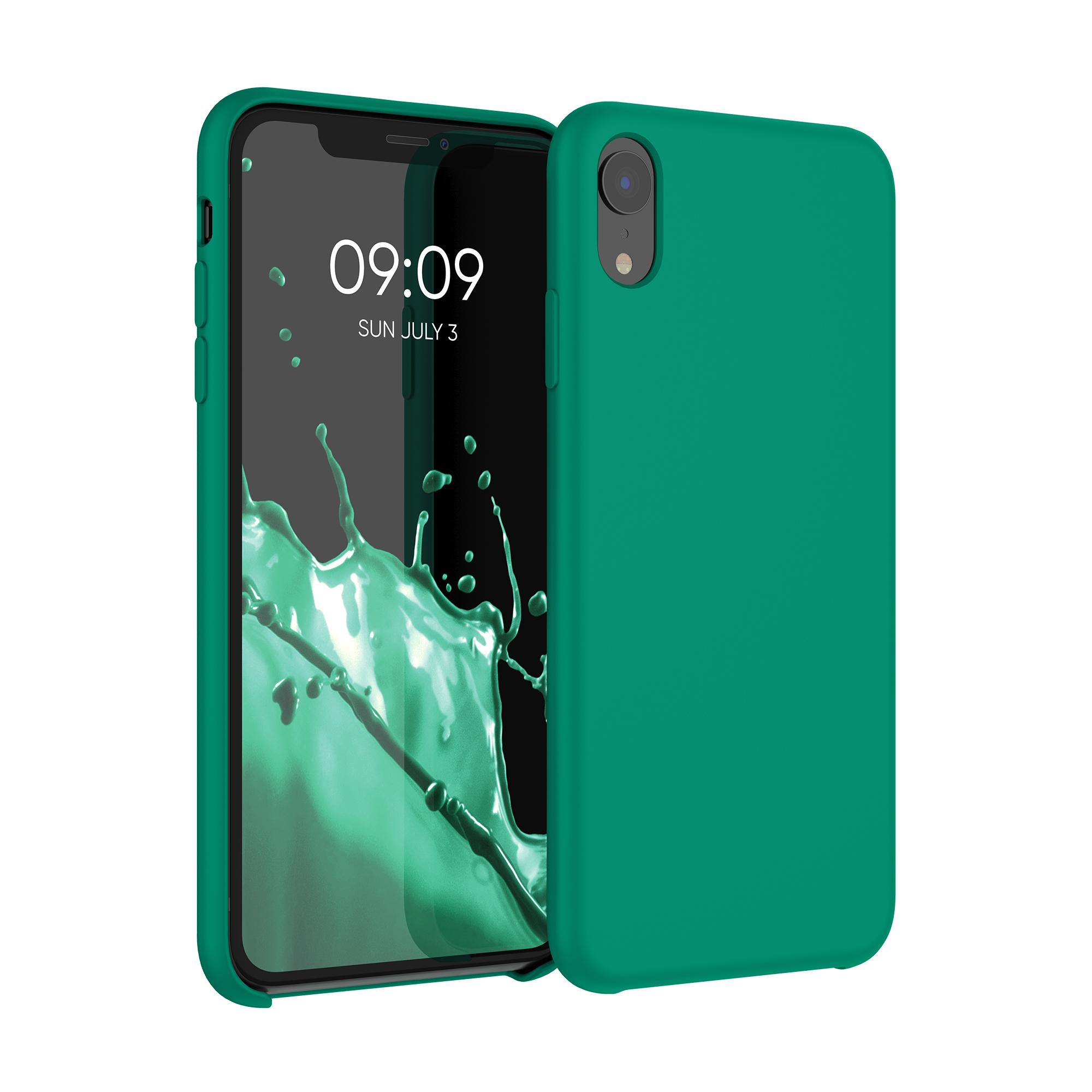 Kvalitní silikonové TPU pouzdro pro Apple iPhone XR - Smaragdová zeleň