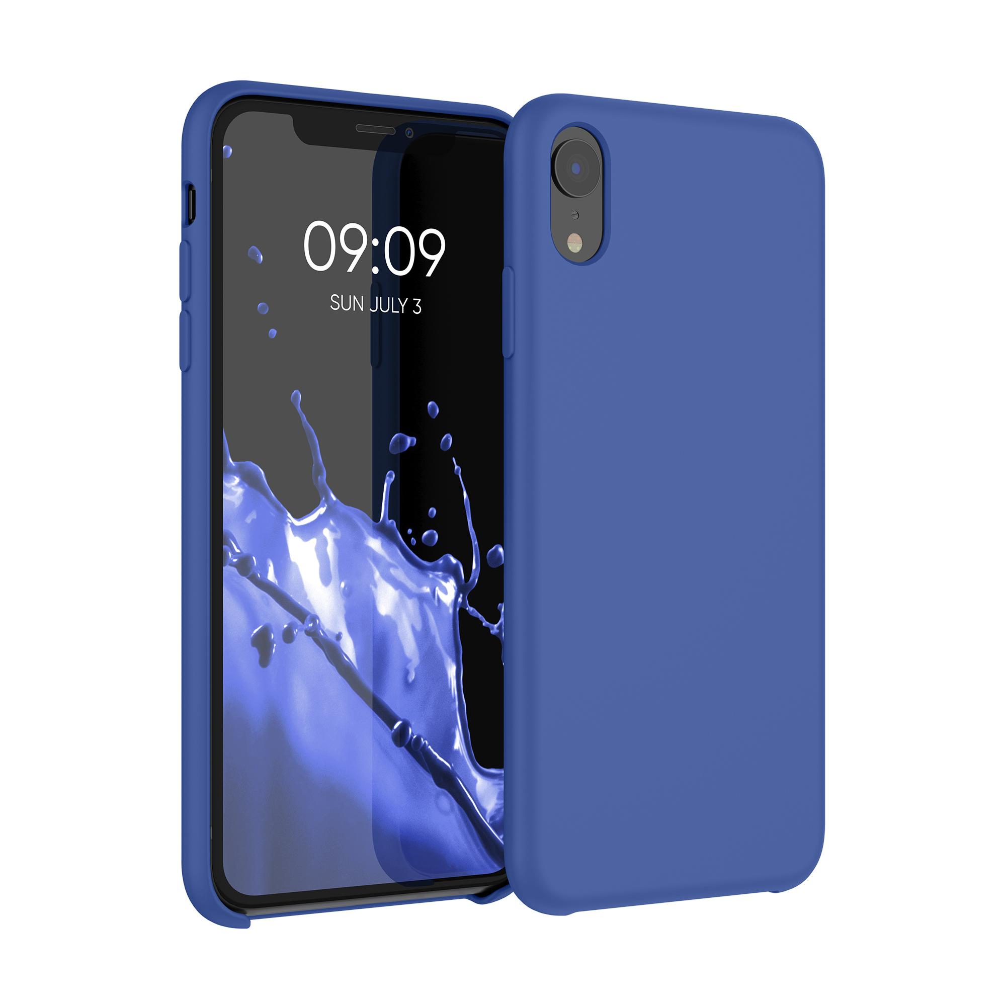 Kvalitní silikonové TPU pouzdro pro Apple iPhone XR - chrpa modrá