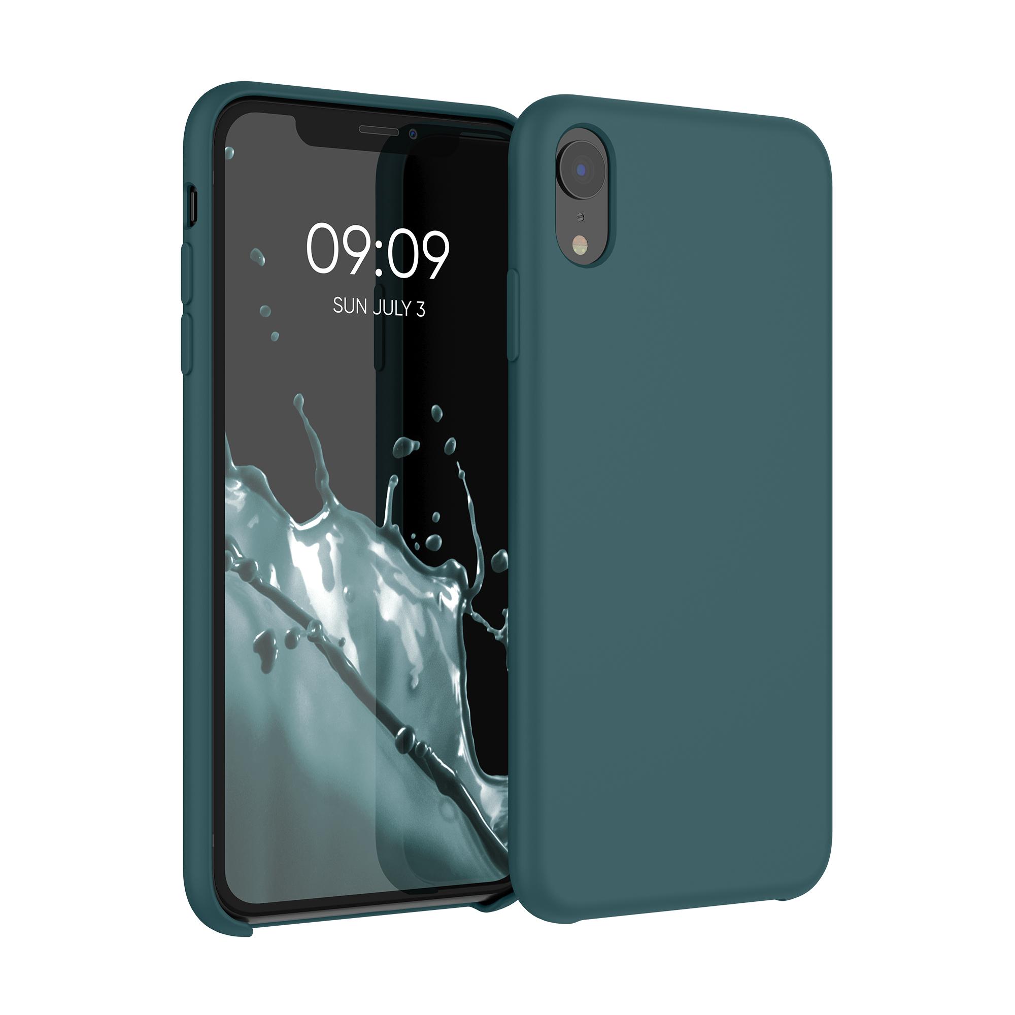 Kvalitní silikonové TPU pouzdro pro Apple iPhone XR - Modrá zelená