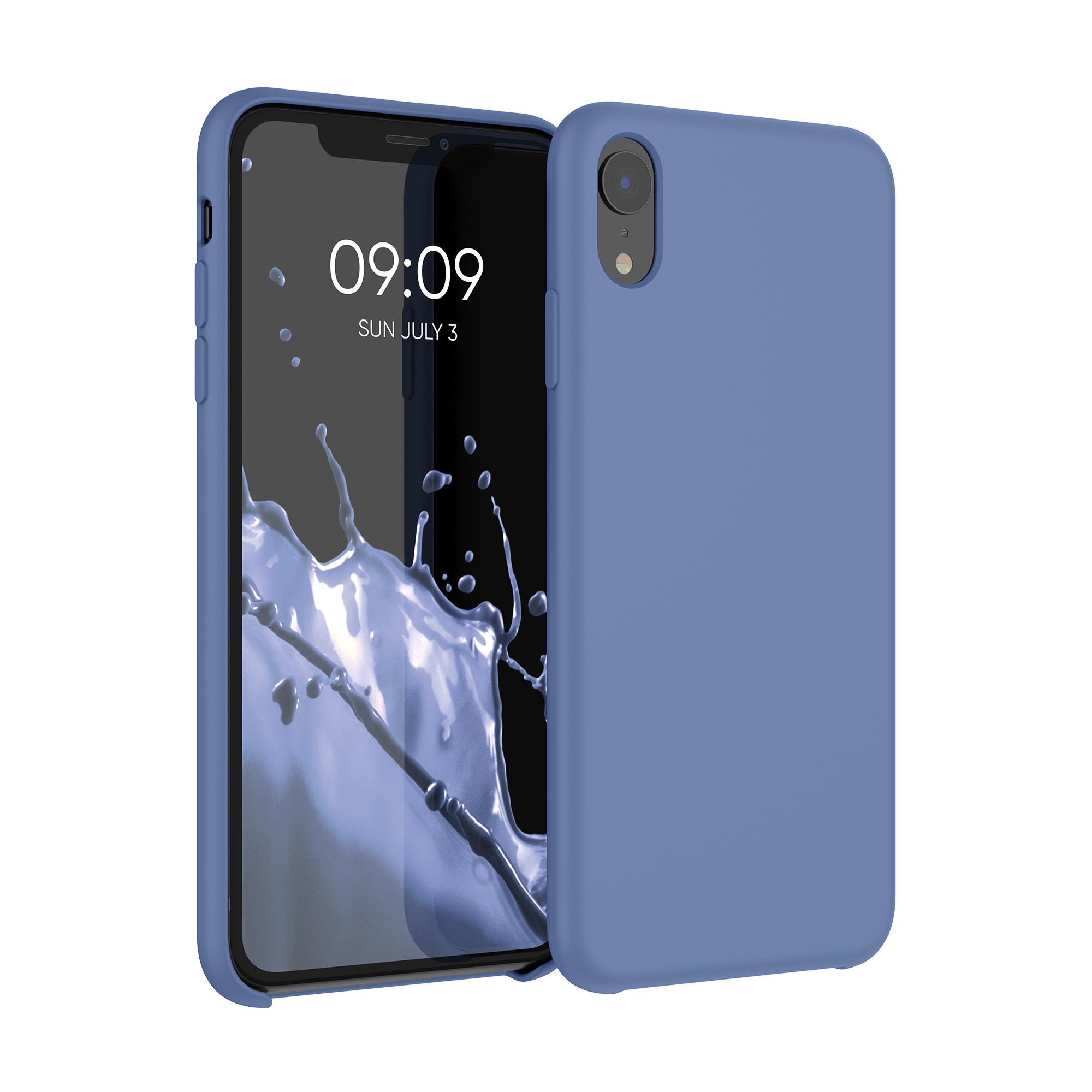 Kvalitní silikonové TPU pouzdro pro Apple iPhone XR - Tmavě modrá