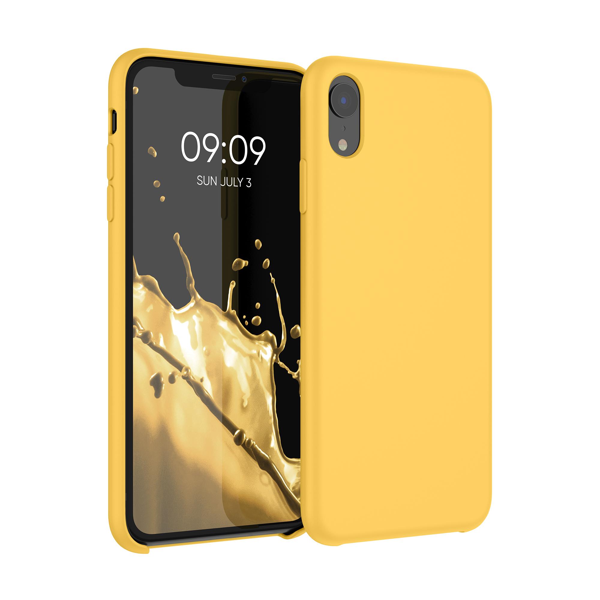Kvalitní silikonové TPU pouzdro pro Apple iPhone XR - Saffron Yellow