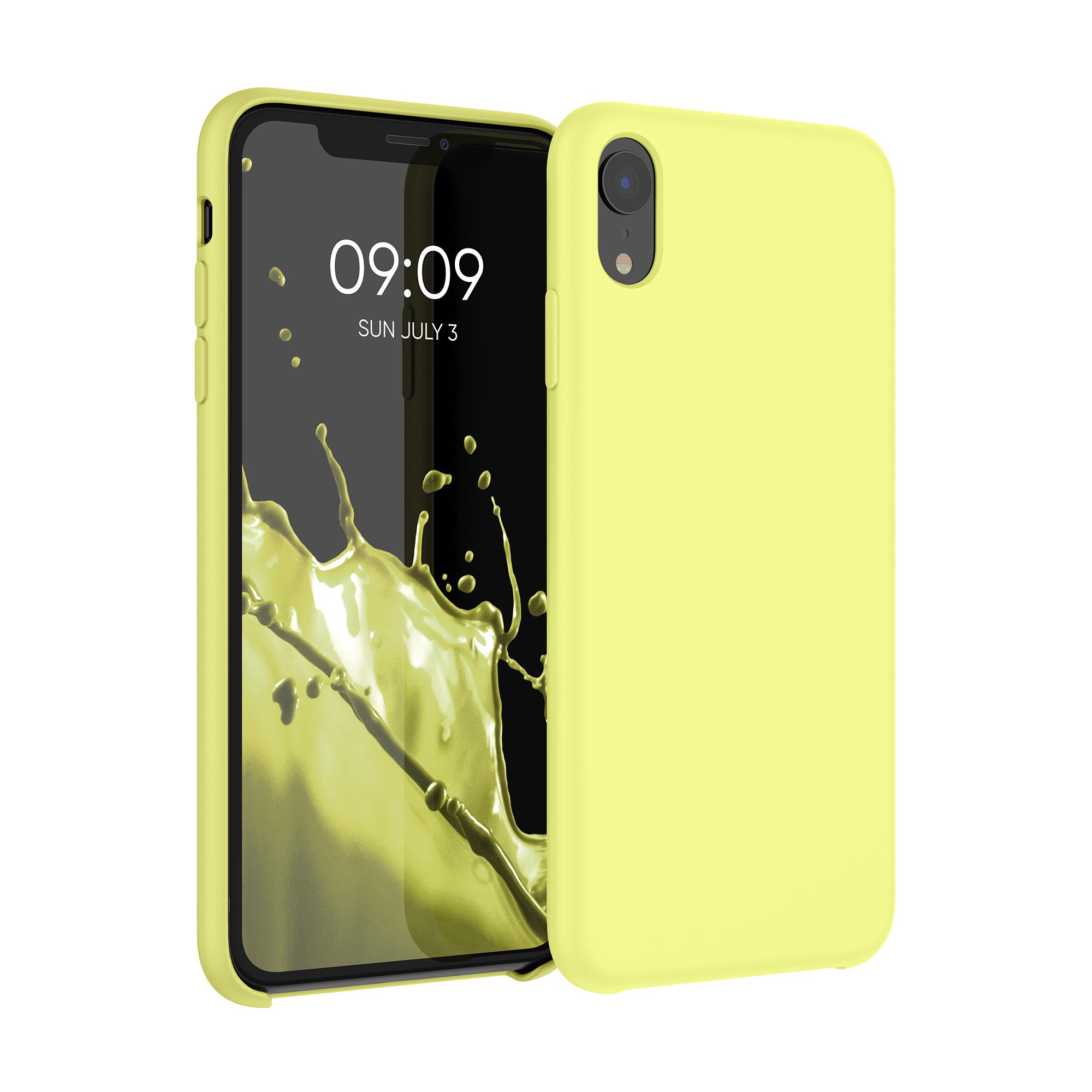 Kvalitní silikonové TPU pouzdro pro Apple iPhone XR - pastel Yellow