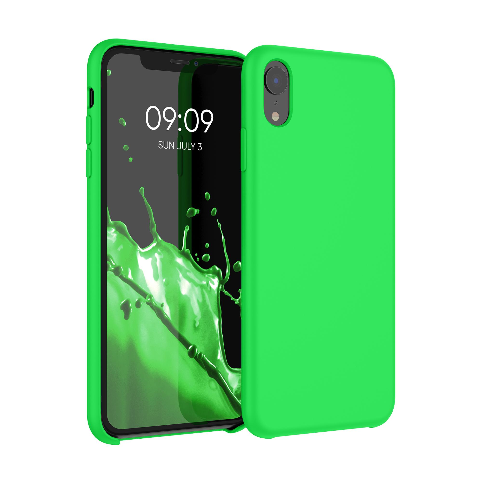 Kvalitní silikonové TPU pouzdro pro Apple iPhone XR - Neonově zelená