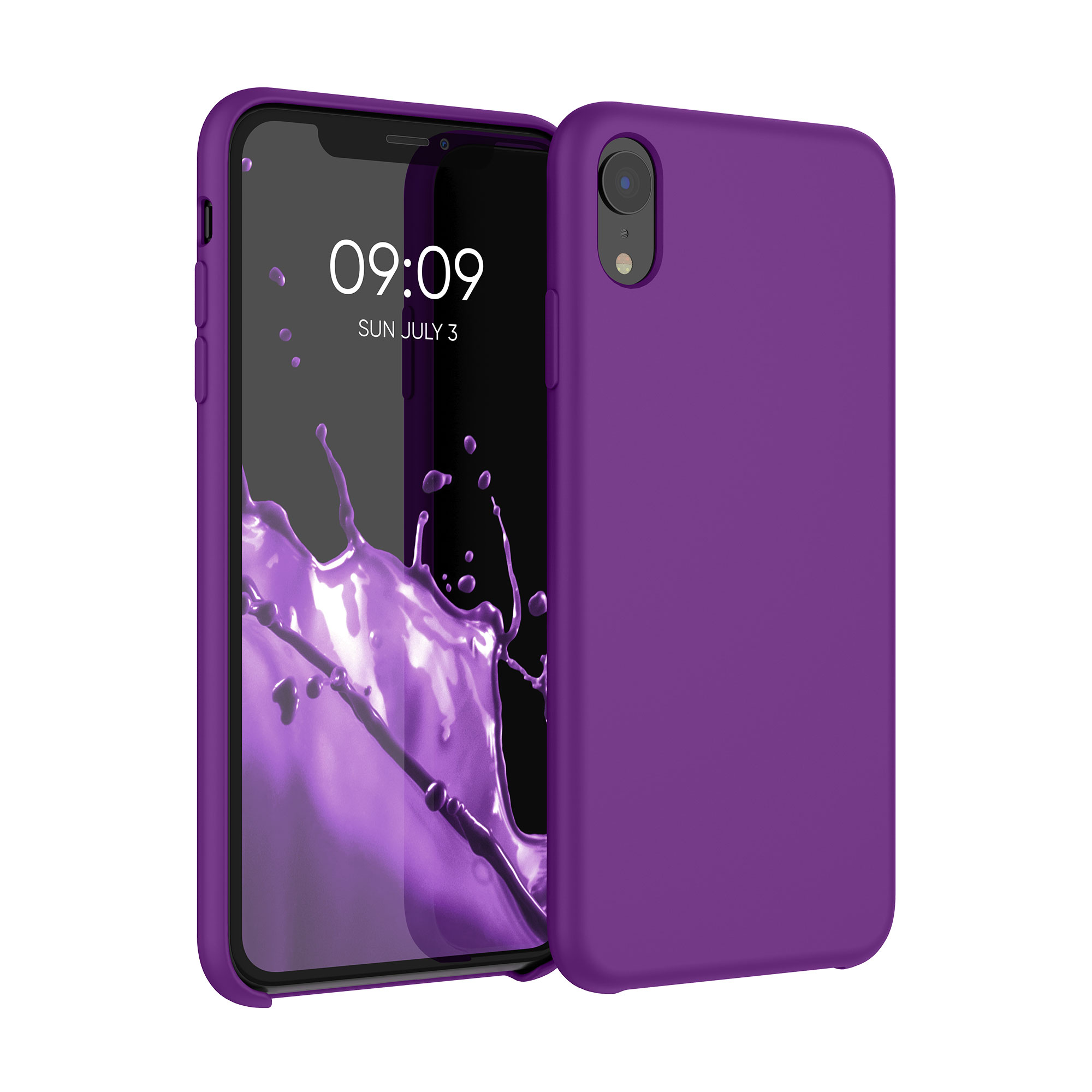 Kvalitní silikonové TPU pouzdro pro Apple iPhone XR - Neon Violet