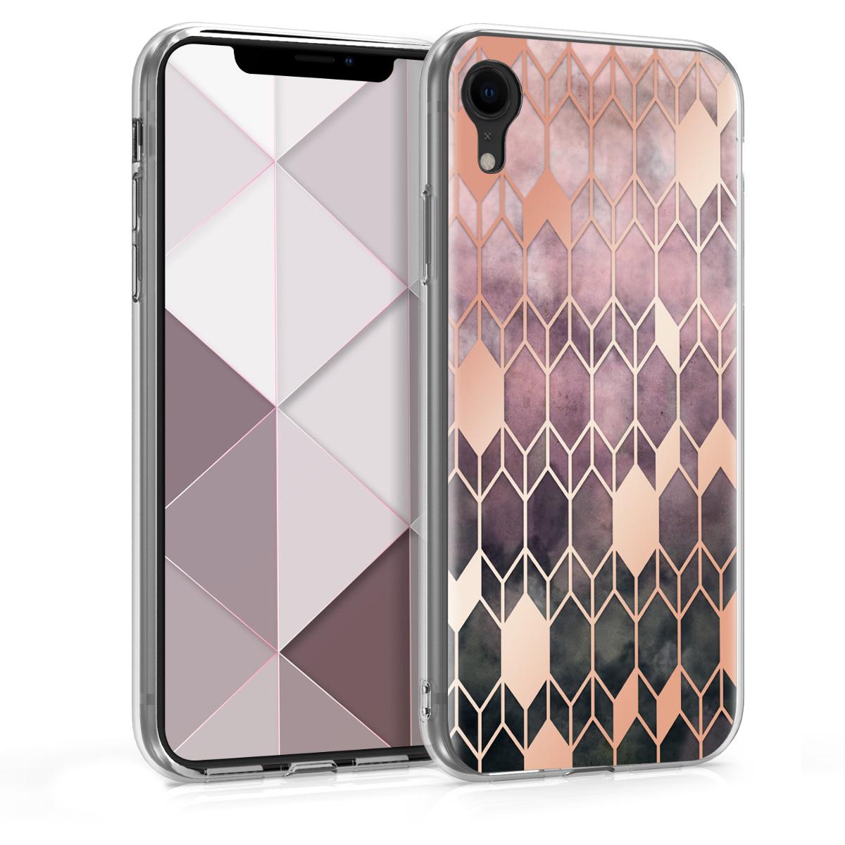 Kvalitní silikonové TPU pouzdro pro Apple iPhone XR - Glory Tmavě Pink | Rose Gold