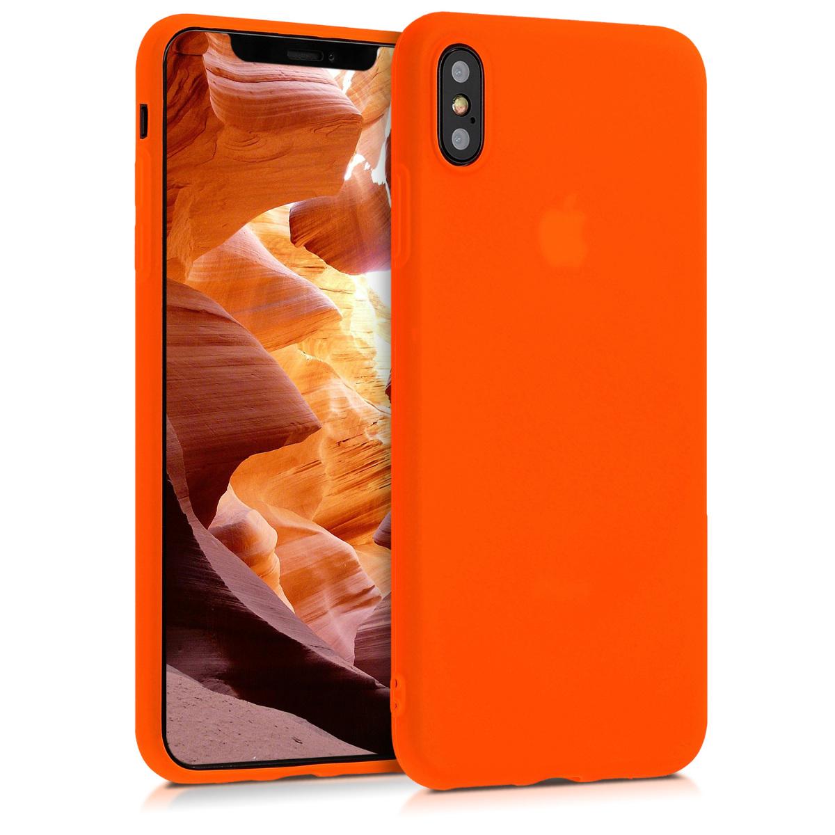 Kvalitní silikonové TPU pouzdro pro Apple iPhone XS Max - Neon Orange