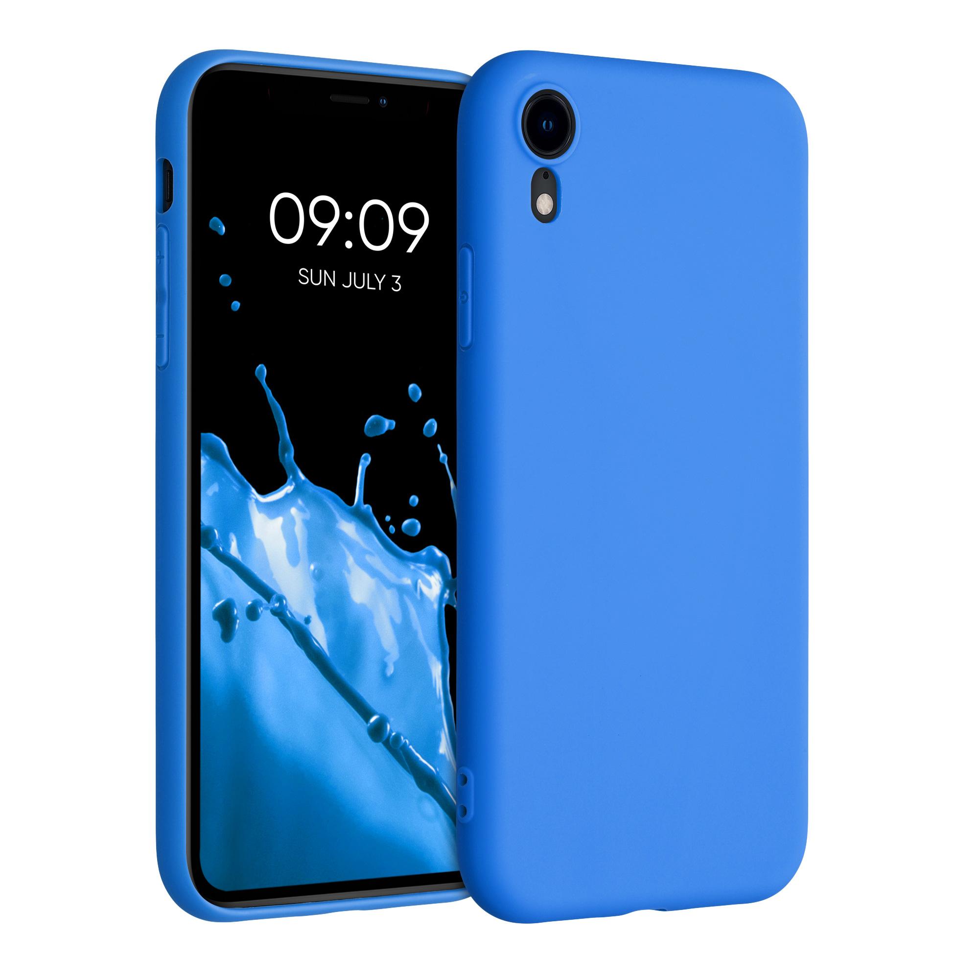 Kvalitní silikonové TPU pouzdro pro Apple iPhone XR - Neon modrý