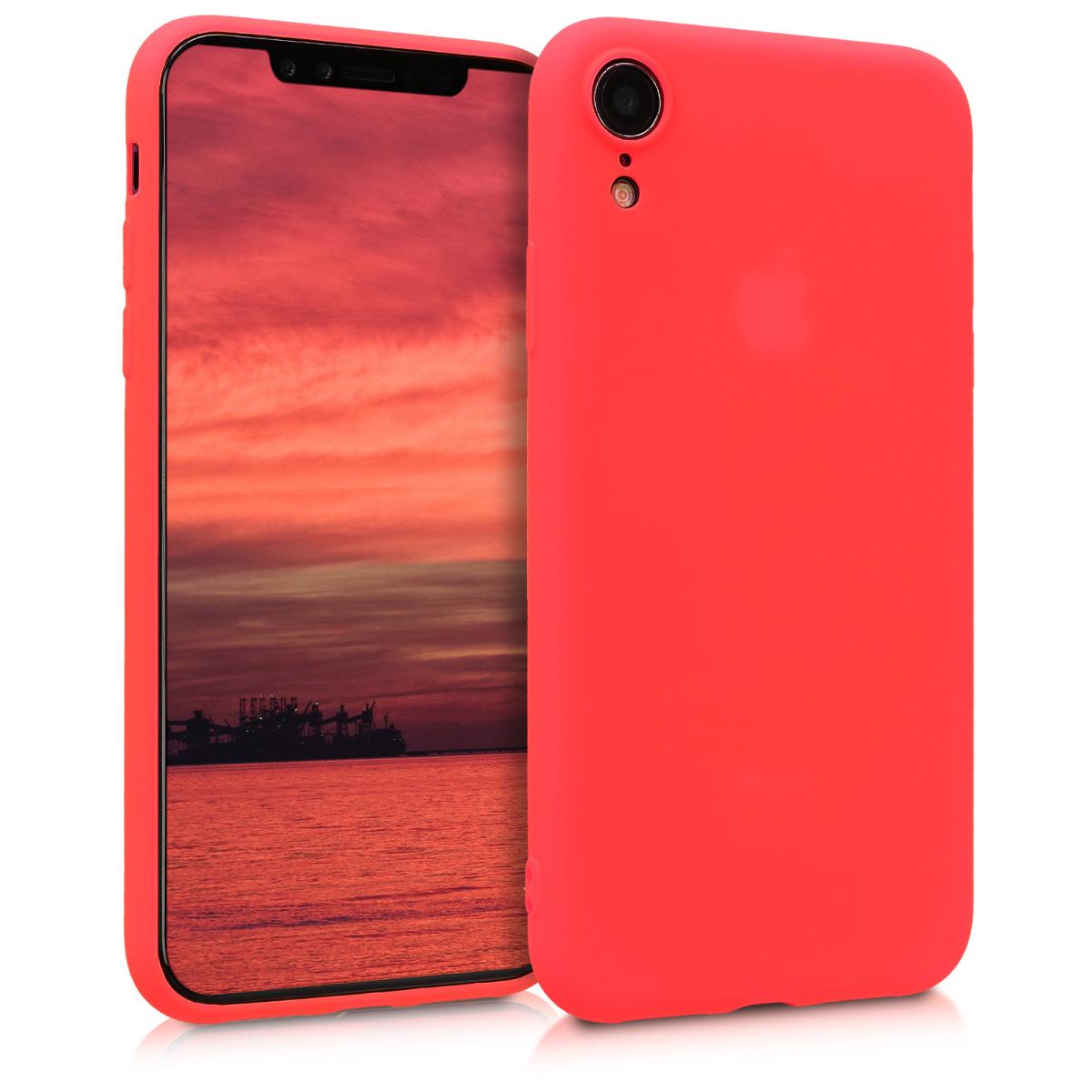 Kvalitní silikonové TPU pouzdro pro Apple iPhone XR - Neon Red