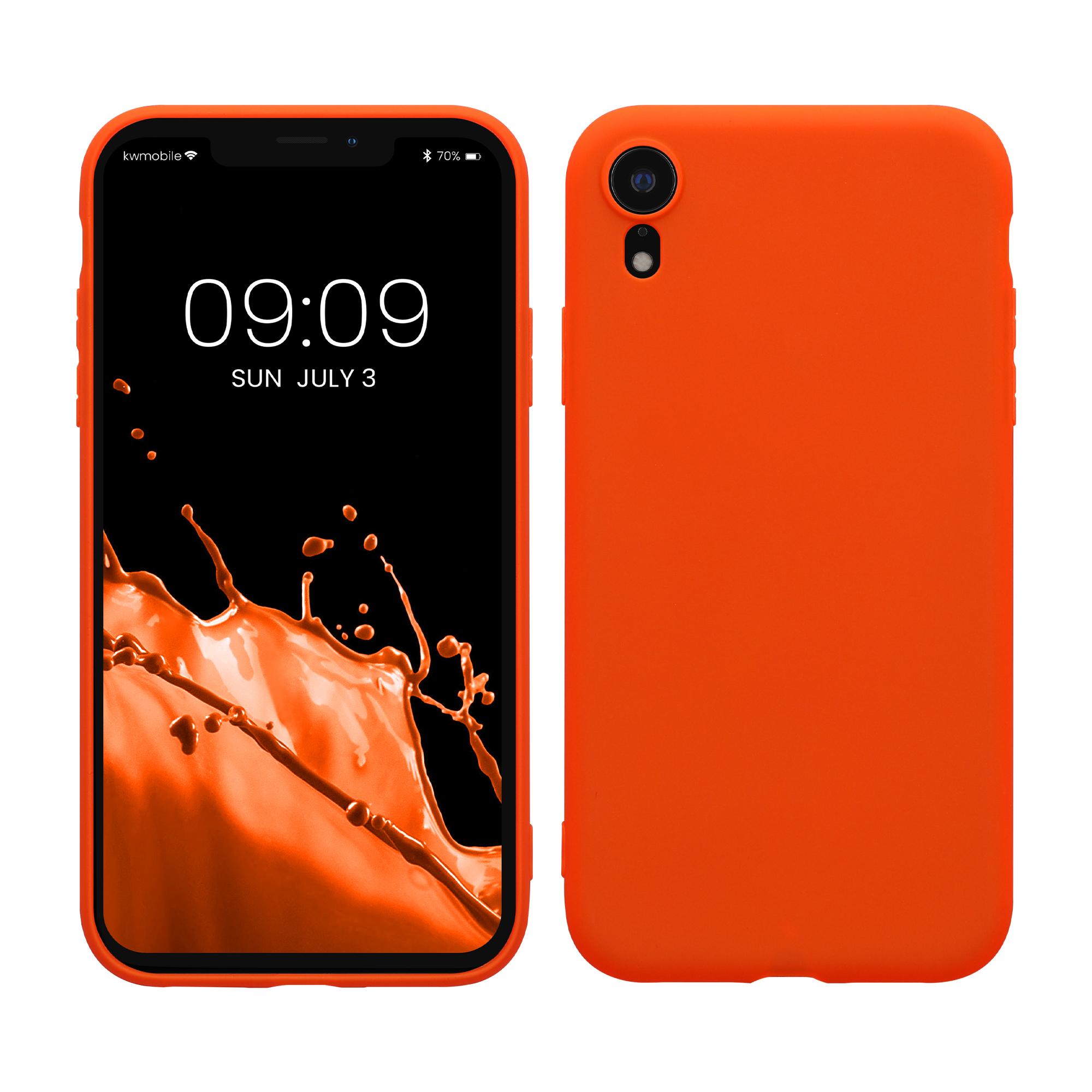 Kvalitní silikonové TPU pouzdro pro Apple iPhone XR - Neon Orange