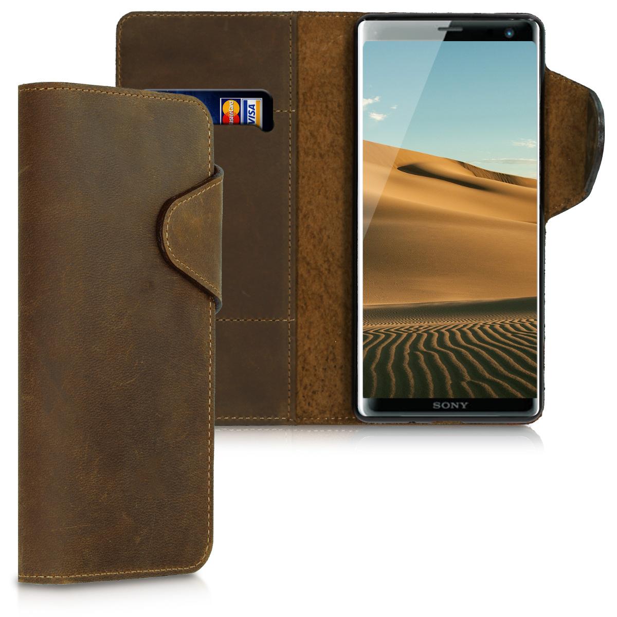 Kožené pouzdro | obal pro Sony Xperia XZ3 - hnědé