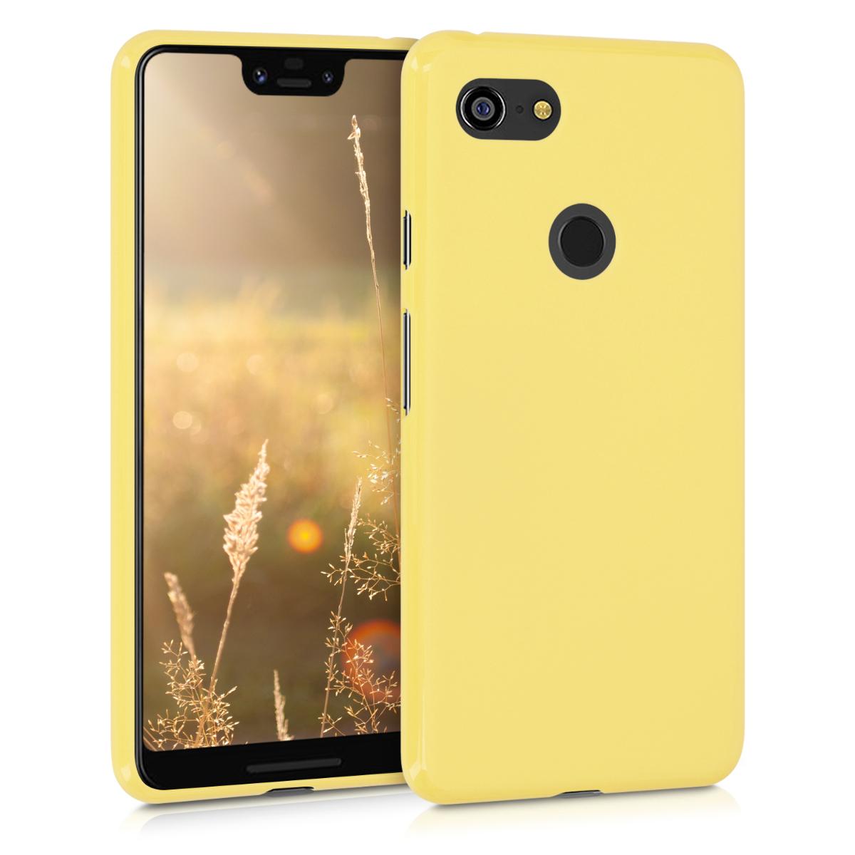 Kvalitní silikonové TPU pouzdro | obal pro Google Pixel 3 XL - Žlutá matná