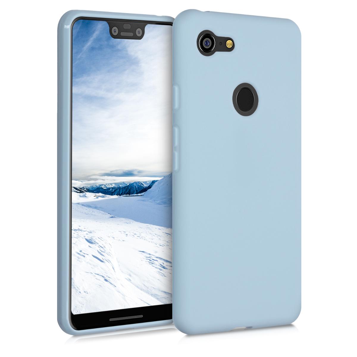 Kvalitní silikonové TPU pouzdro | obal pro Google Pixel 3 XL - Světle modrá matná
