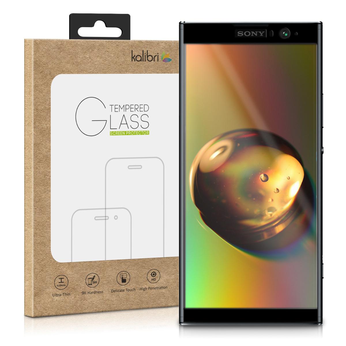 Skleněné pouzdro | obal pro Sony Xperia XA2 Plus - černý rám