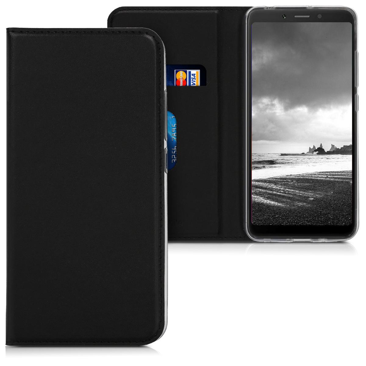 Kožené pouzdro | obal pro Xiaomi Redmi 6A - černý