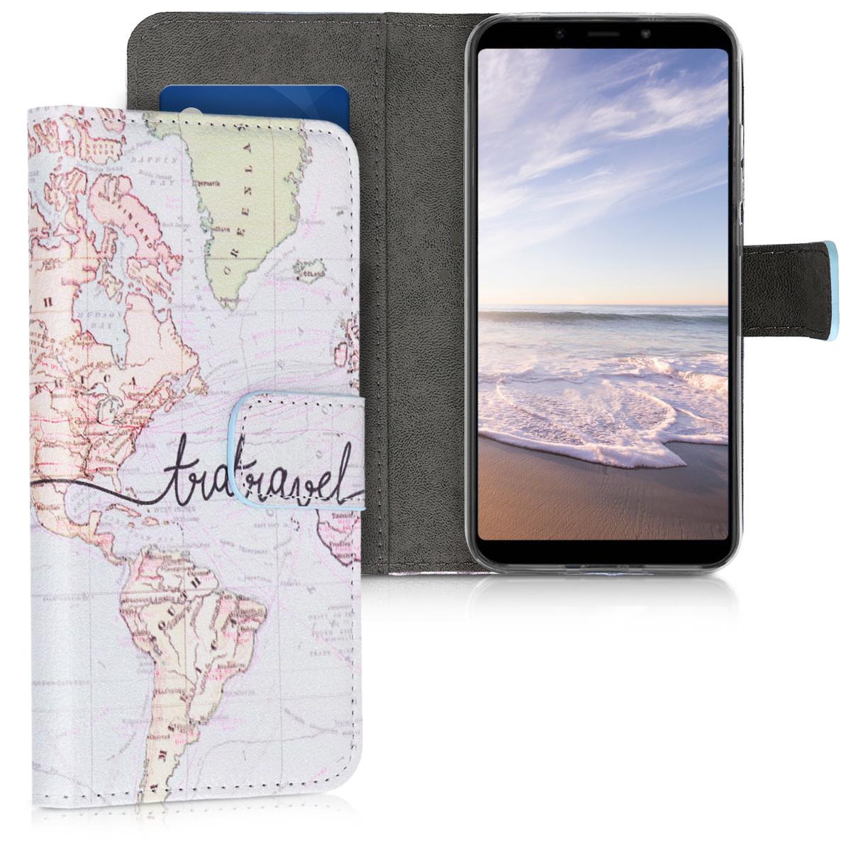 Kožené pouzdro | obal pro Xiaomi Redmi 6 Pro | Mi A2 Lite - Travel černý / vícebarevná