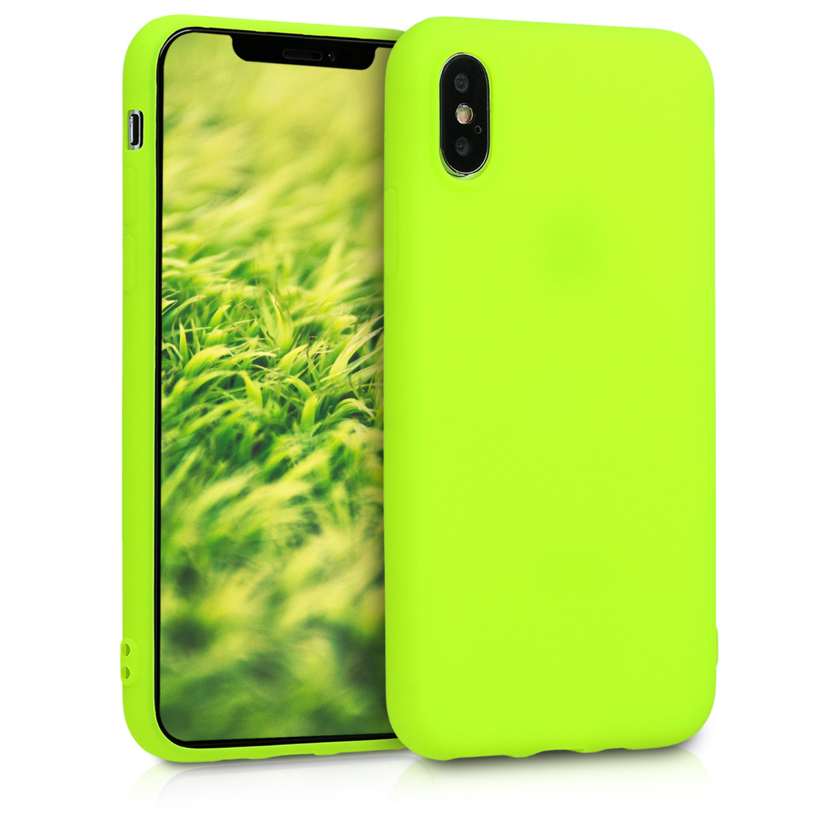Kvalitní silikonové TPU pouzdro pro Apple iPhone XS - Neon Yellow