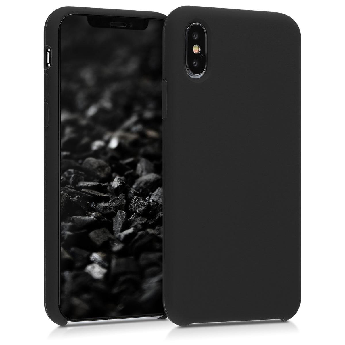 Kvalitní silikonové TPU pouzdro pro Apple iPhone XS - Černá