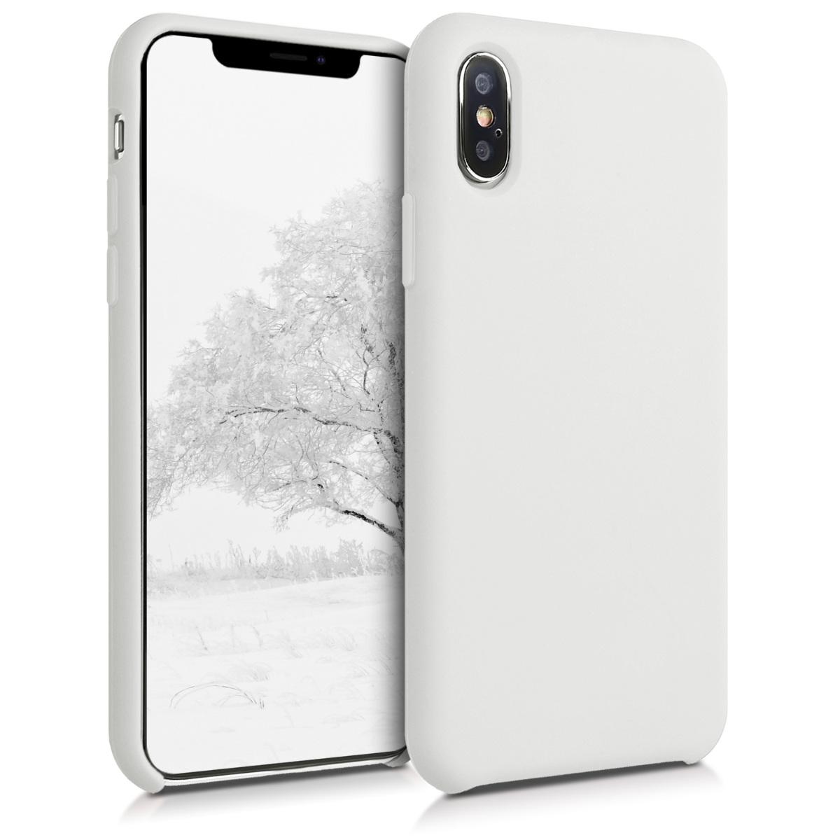 Kvalitní silikonové TPU pouzdro pro Apple iPhone XS - Bílý