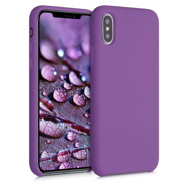Kvalitní silikonové TPU pouzdro pro Apple iPhone XS - pastel Purple