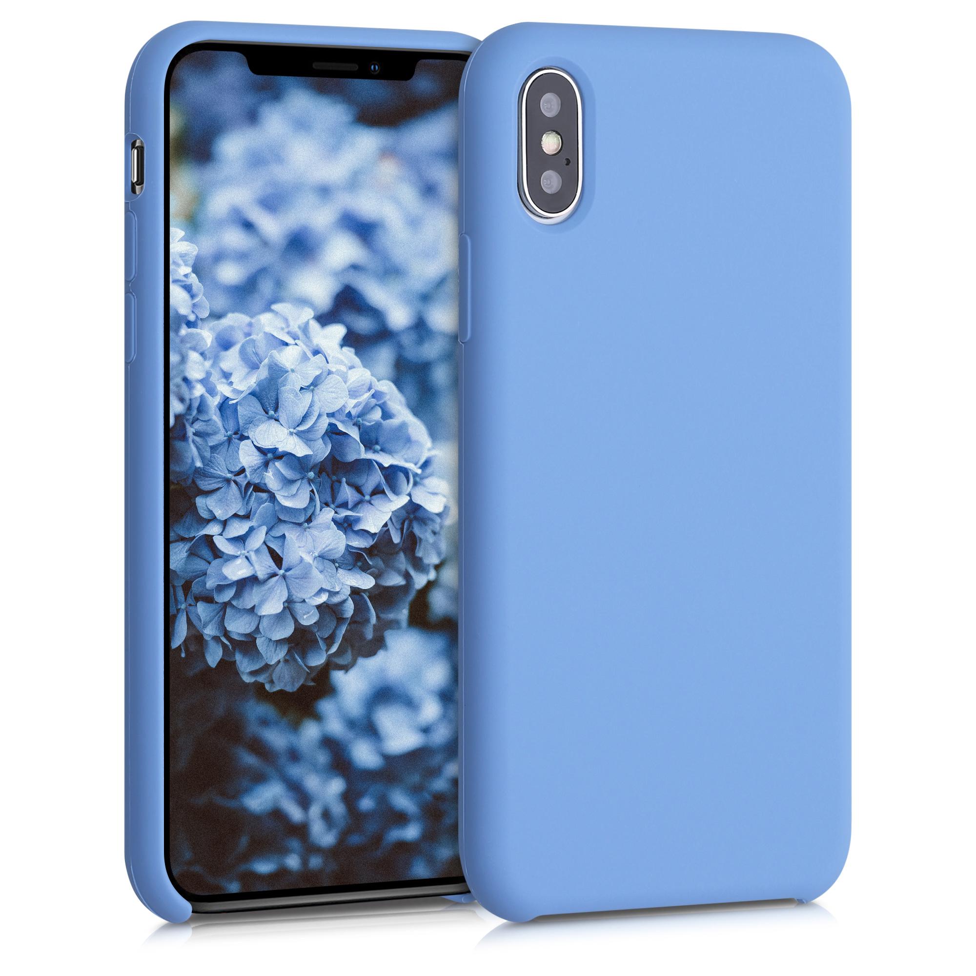 Kvalitní silikonové TPU pouzdro pro Apple iPhone XS - azurově modré
