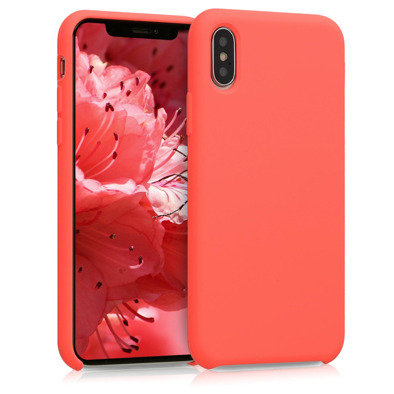 Kvalitní silikonové TPU pouzdro pro Apple iPhone XS - Living Coral