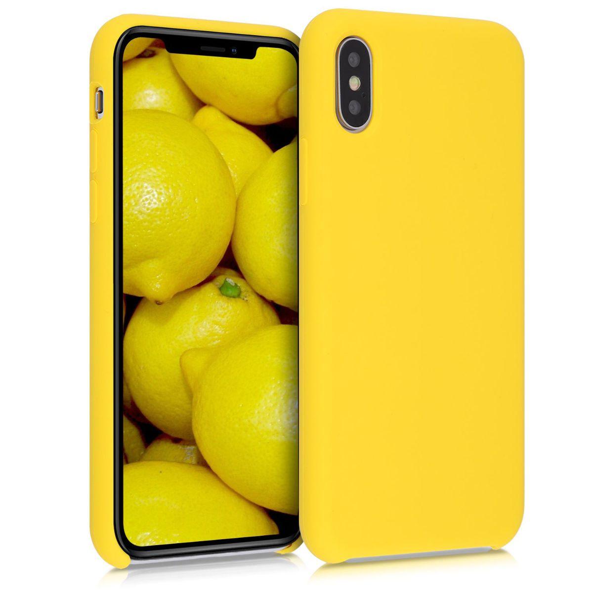 Kvalitní silikonové TPU pouzdro pro Apple iPhone XS - Vibrant Yellow