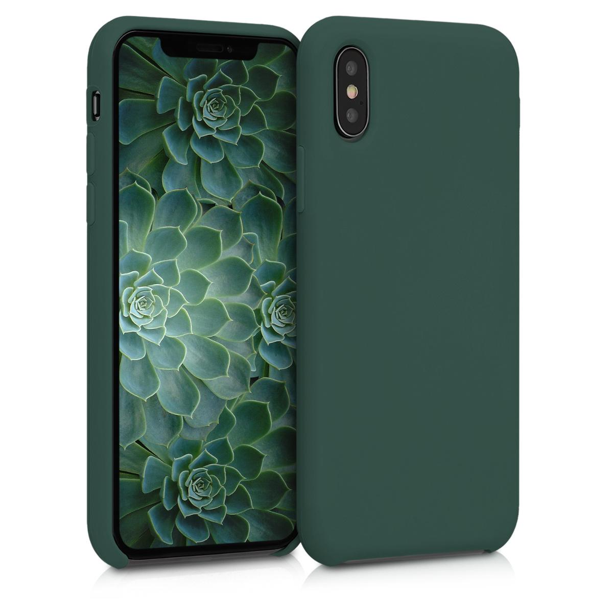 Kvalitní silikonové TPU pouzdro pro Apple iPhone XS - Moss Green