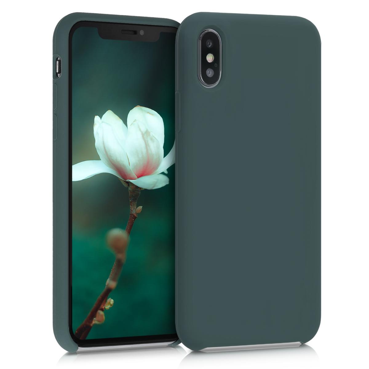 Kvalitní silikonové TPU pouzdro pro Apple iPhone XS - Modrá zelená