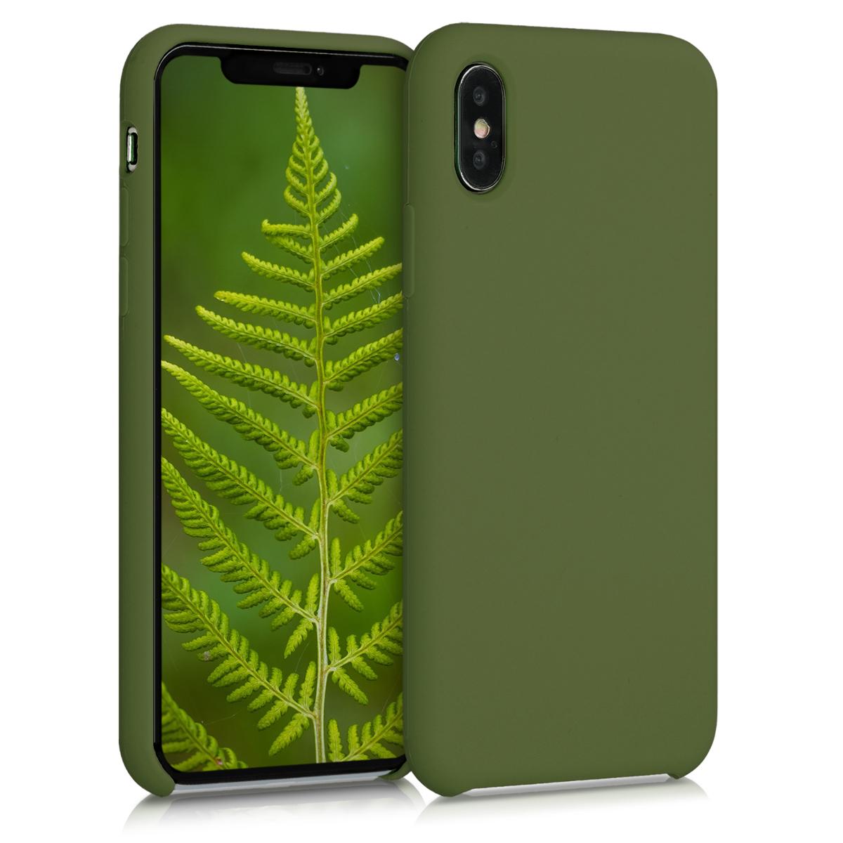 Kvalitní silikonové TPU pouzdro pro Apple iPhone XS - pesto Green