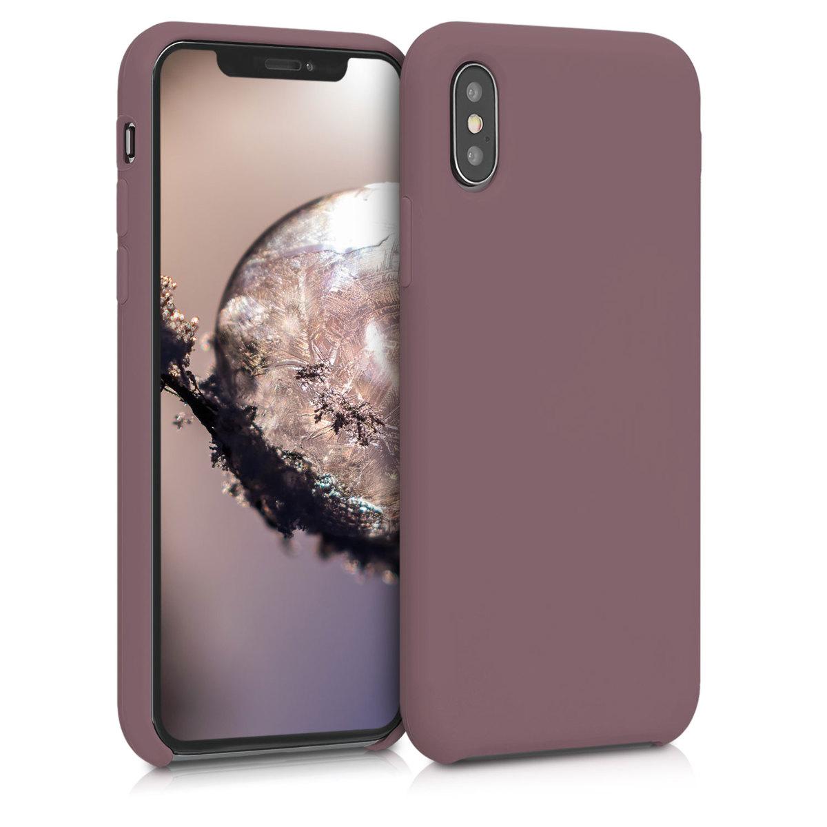 Kvalitní silikonové TPU pouzdro pro Apple iPhone XS - Grape Fialová