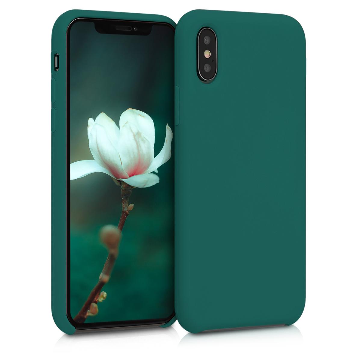 Kvalitní silikonové TPU pouzdro pro Apple iPhone XS - Turquoise Green