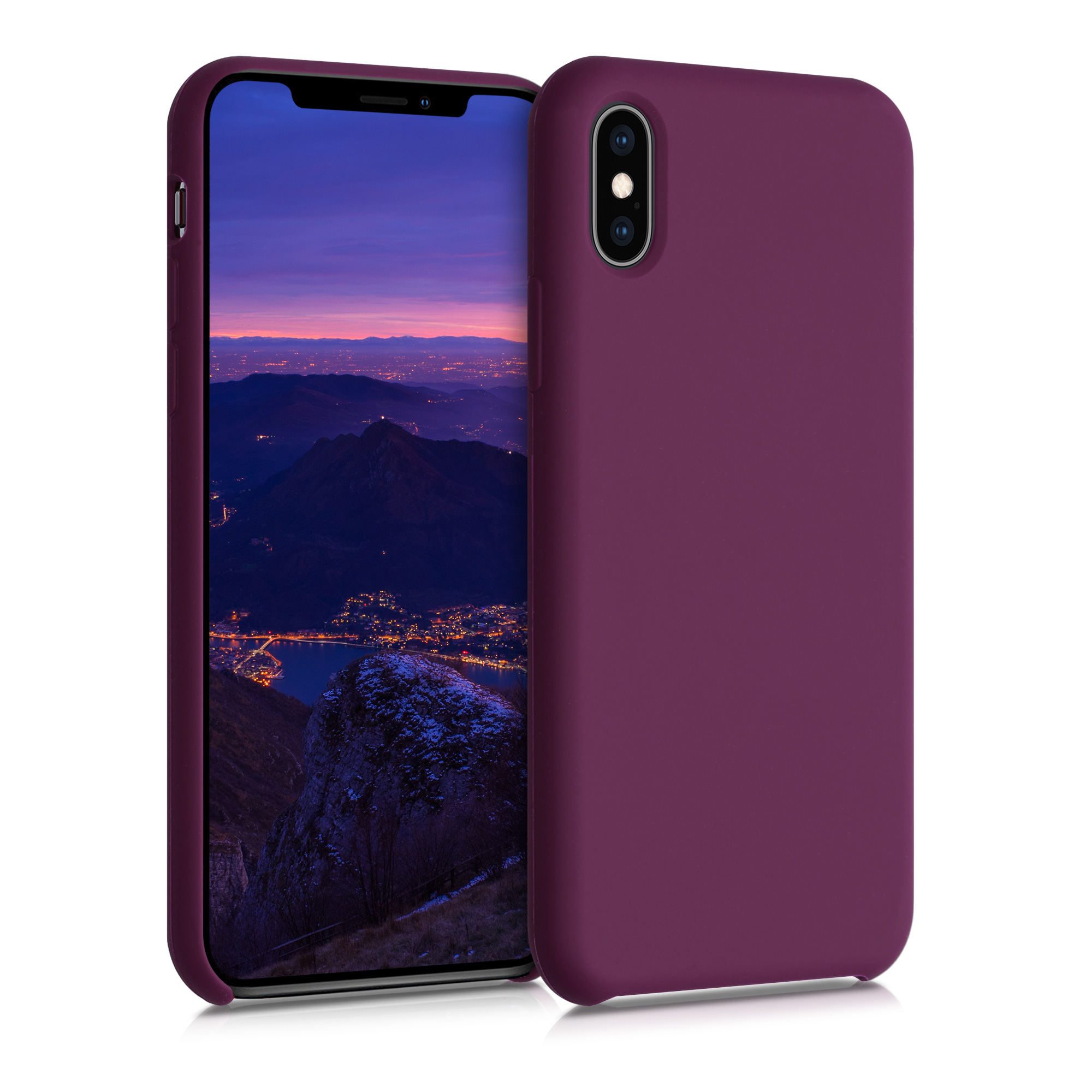 Kvalitní silikonové TPU pouzdro pro Apple iPhone XS - Bordeaux Violet
