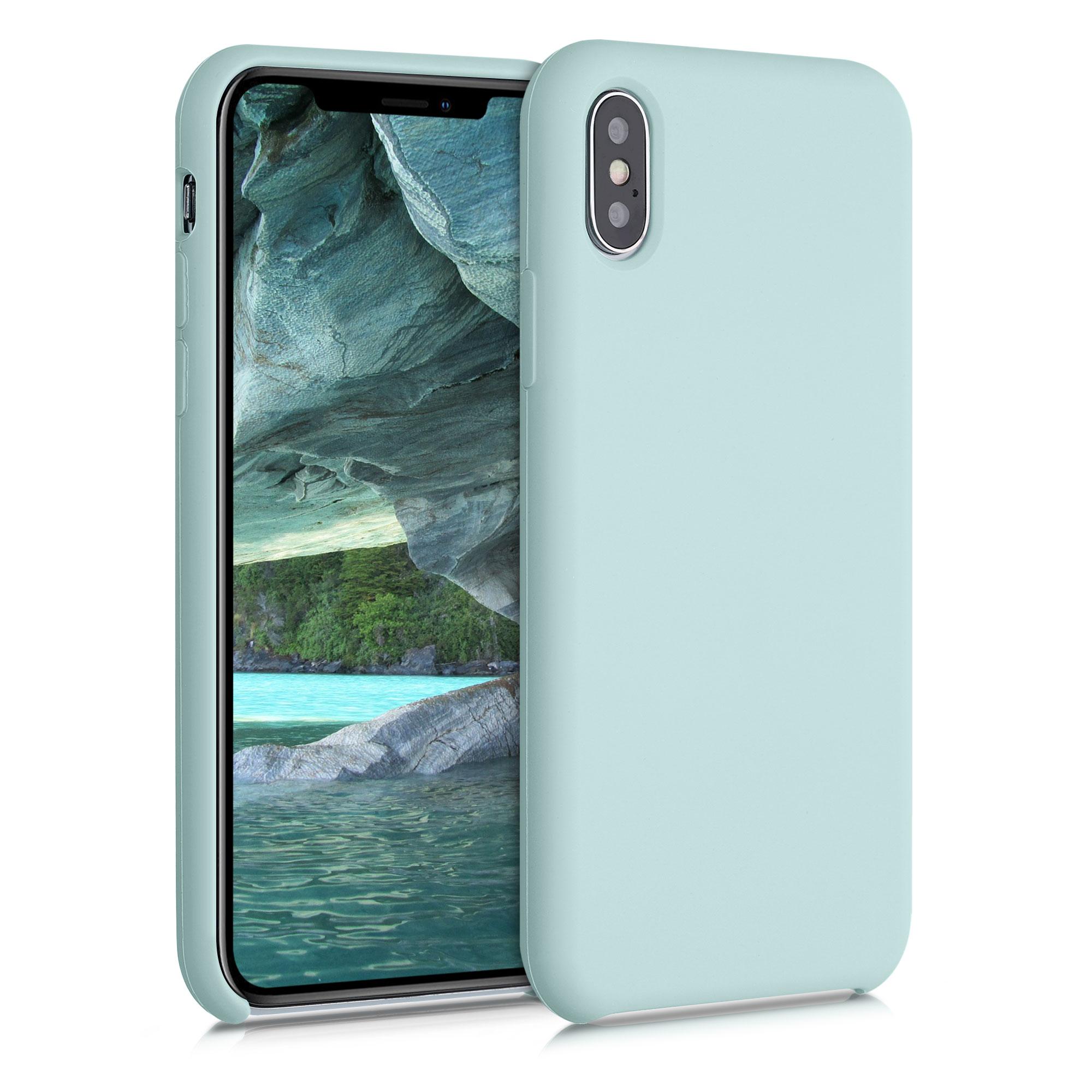 Kvalitní silikonové TPU pouzdro pro Apple iPhone XS - Frosty Mint