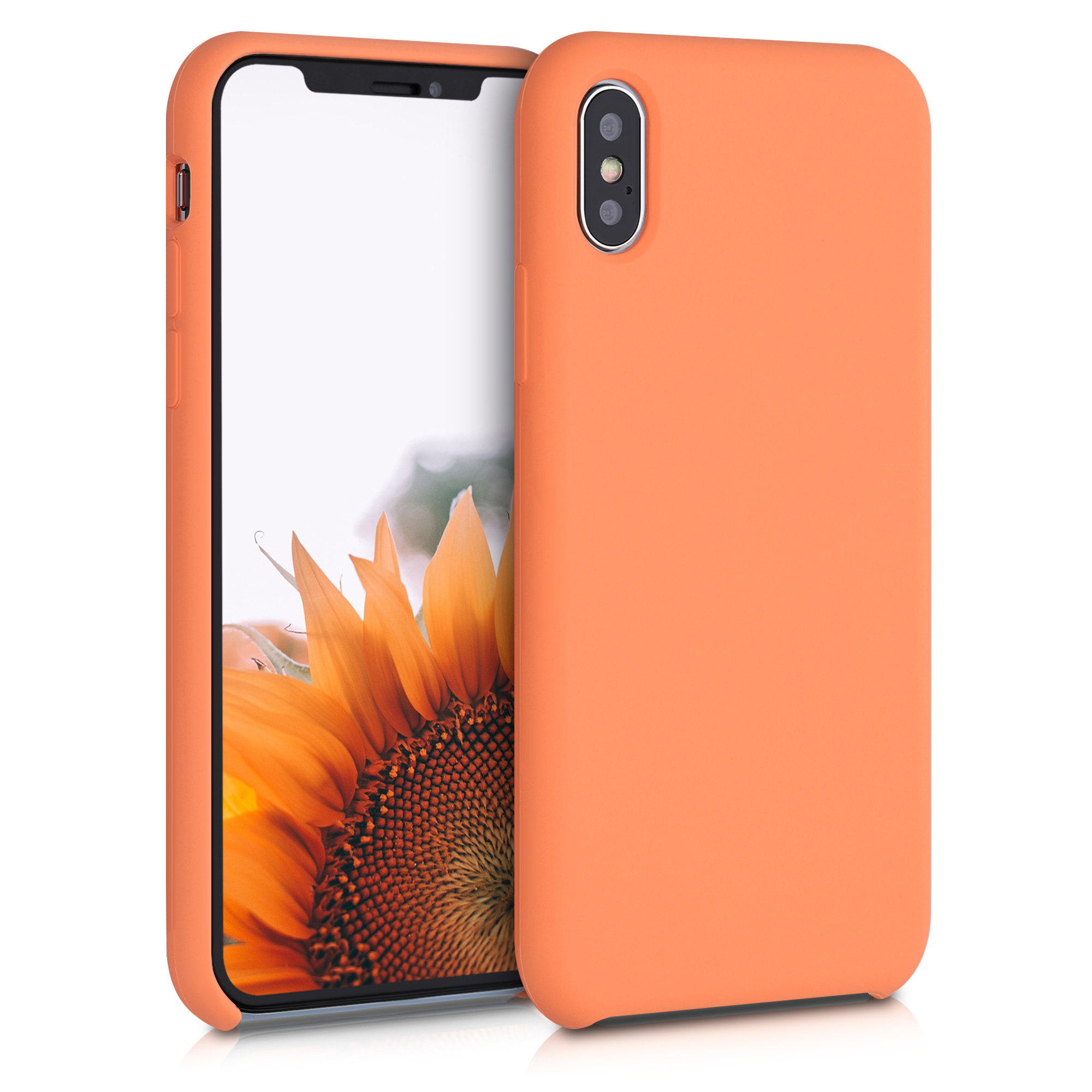 Kvalitní silikonové TPU pouzdro pro Apple iPhone XS - Sunrise Orange