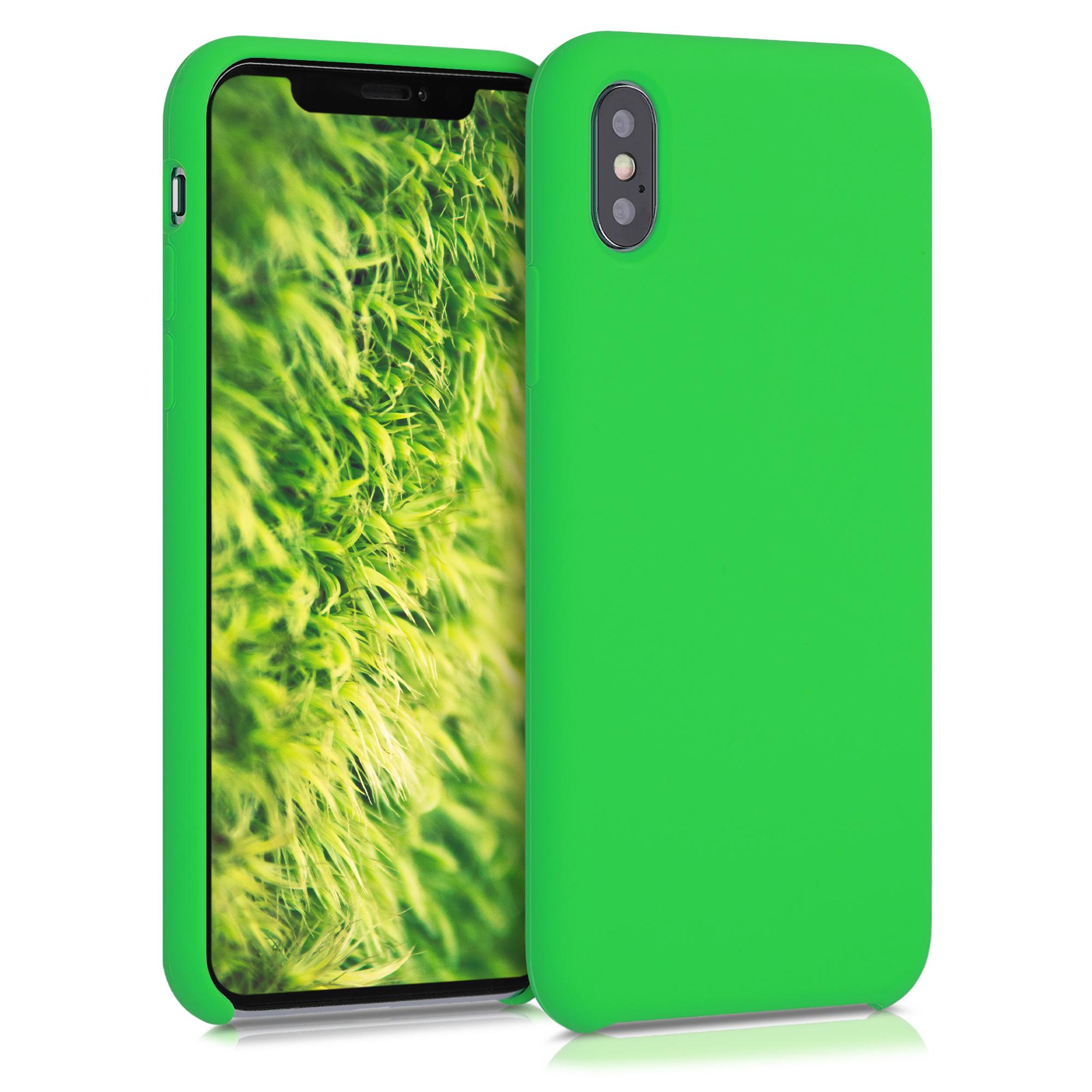 Kvalitní silikonové TPU pouzdro pro Apple iPhone XS - Neonově zelená