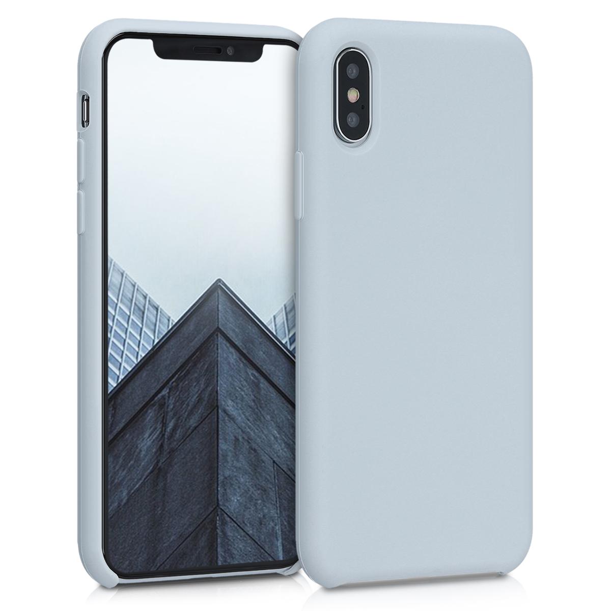 Kvalitní silikonové TPU pouzdro pro Apple iPhone XS - Světle šedá Matte