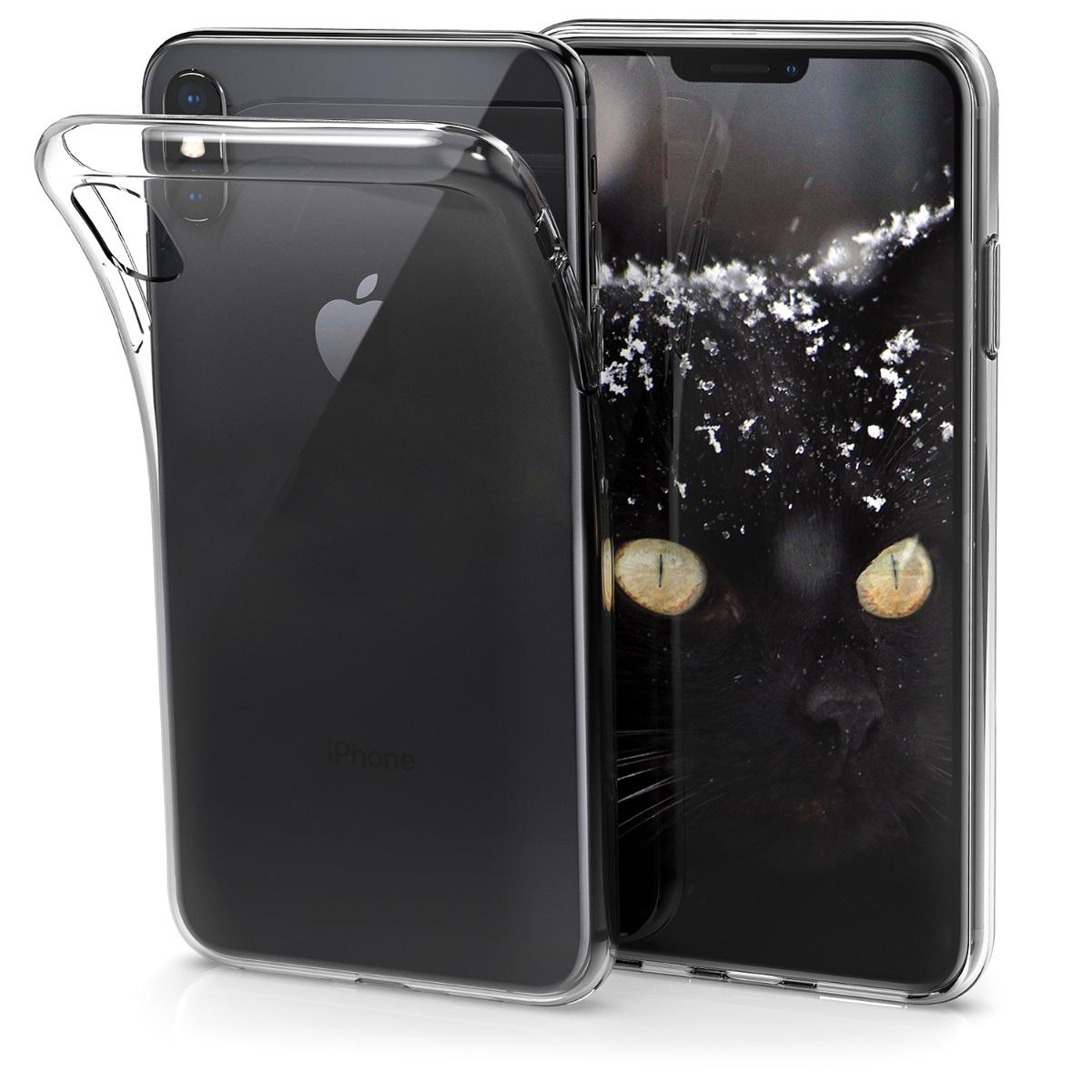 Kvalitní silikonové TPU pouzdro pro Apple iPhone XS - Průhledný